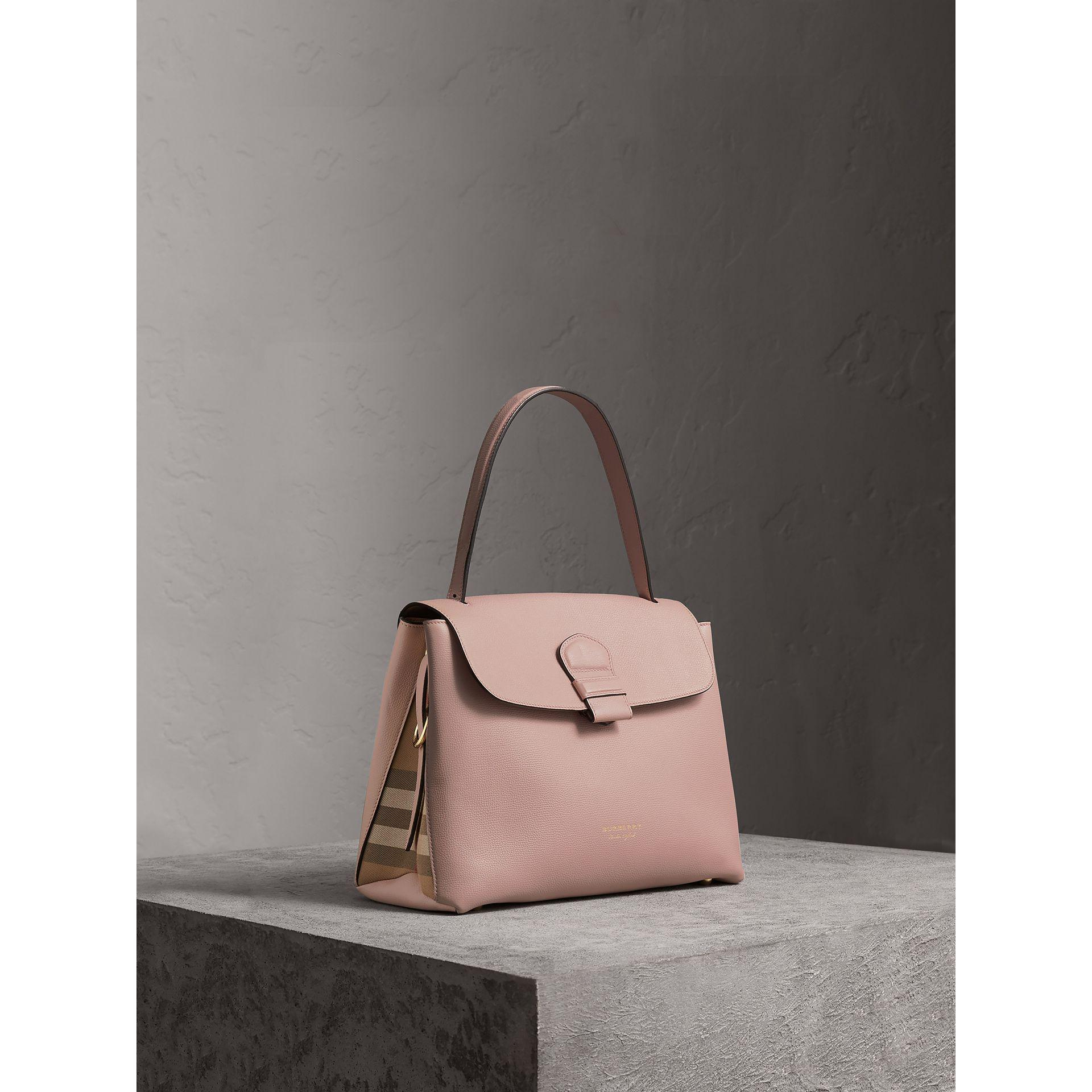 Lyst - Burberry Medium Grainy Leather And House Check Tote Bag b2b7f32e17576