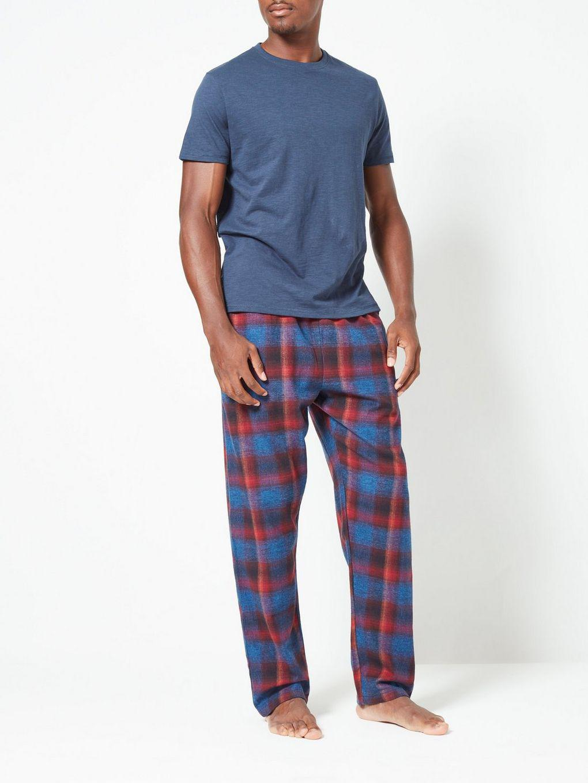 b5e1f1e7ad Burton - Blue Cotton Check Pyjama Set for Men - Lyst. View fullscreen