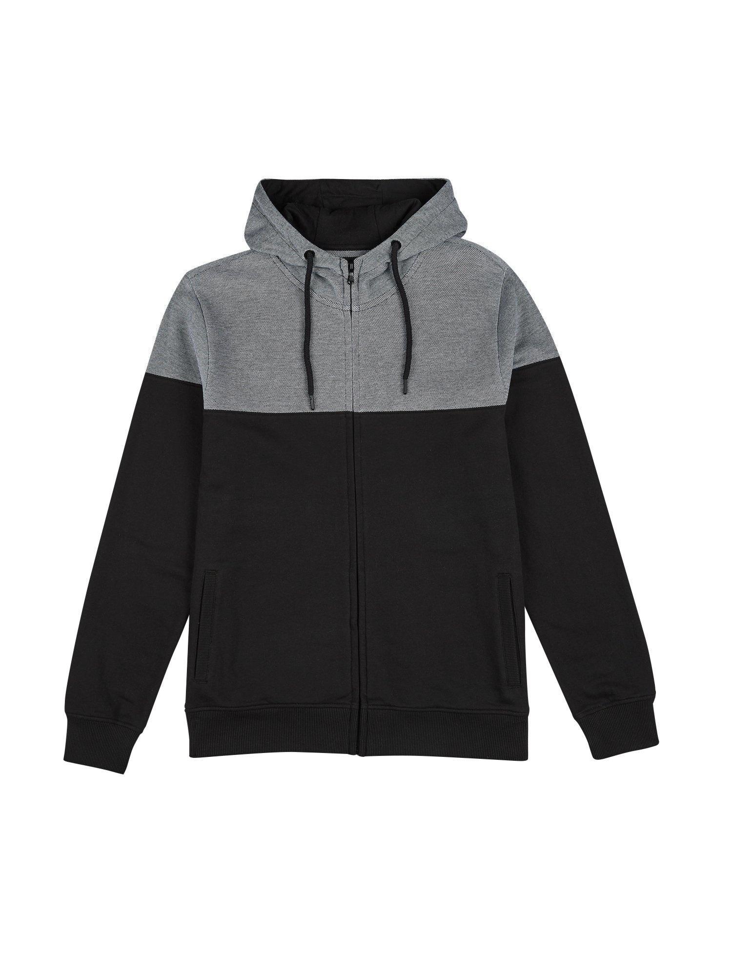 b26795badf Burton Black Cut And Sew Pique Panel Hoodie in Black for Men - Save ...
