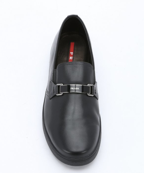 prada wallet discount - Prada Sport Black Leather Horsebit Logo Buckle Slip-on Sneakers in ...