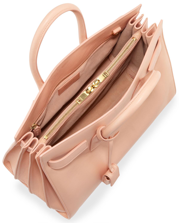 y sl - sac de jour leather nano carryall bag, black