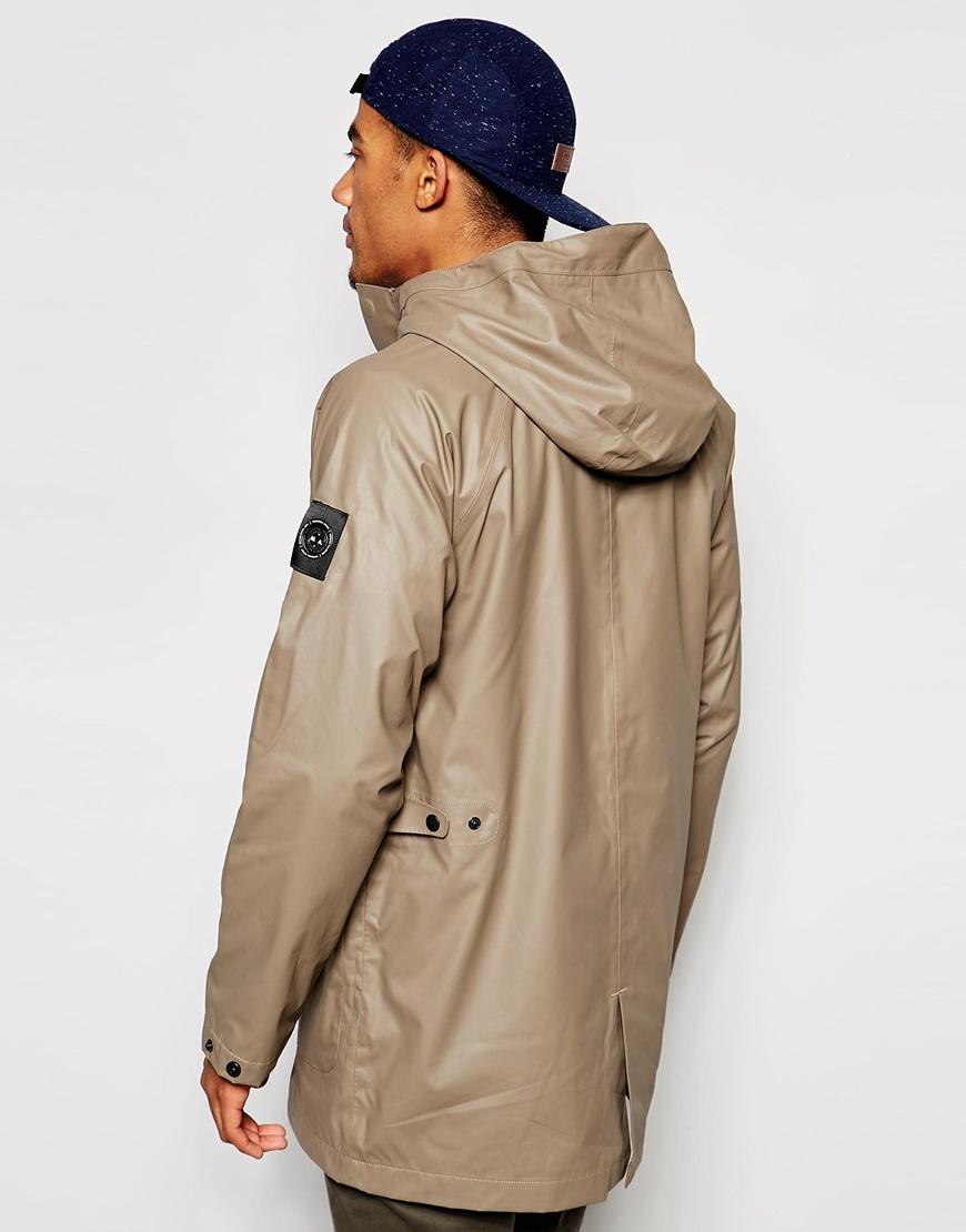 marshall artist hooded coat in gray for lyst