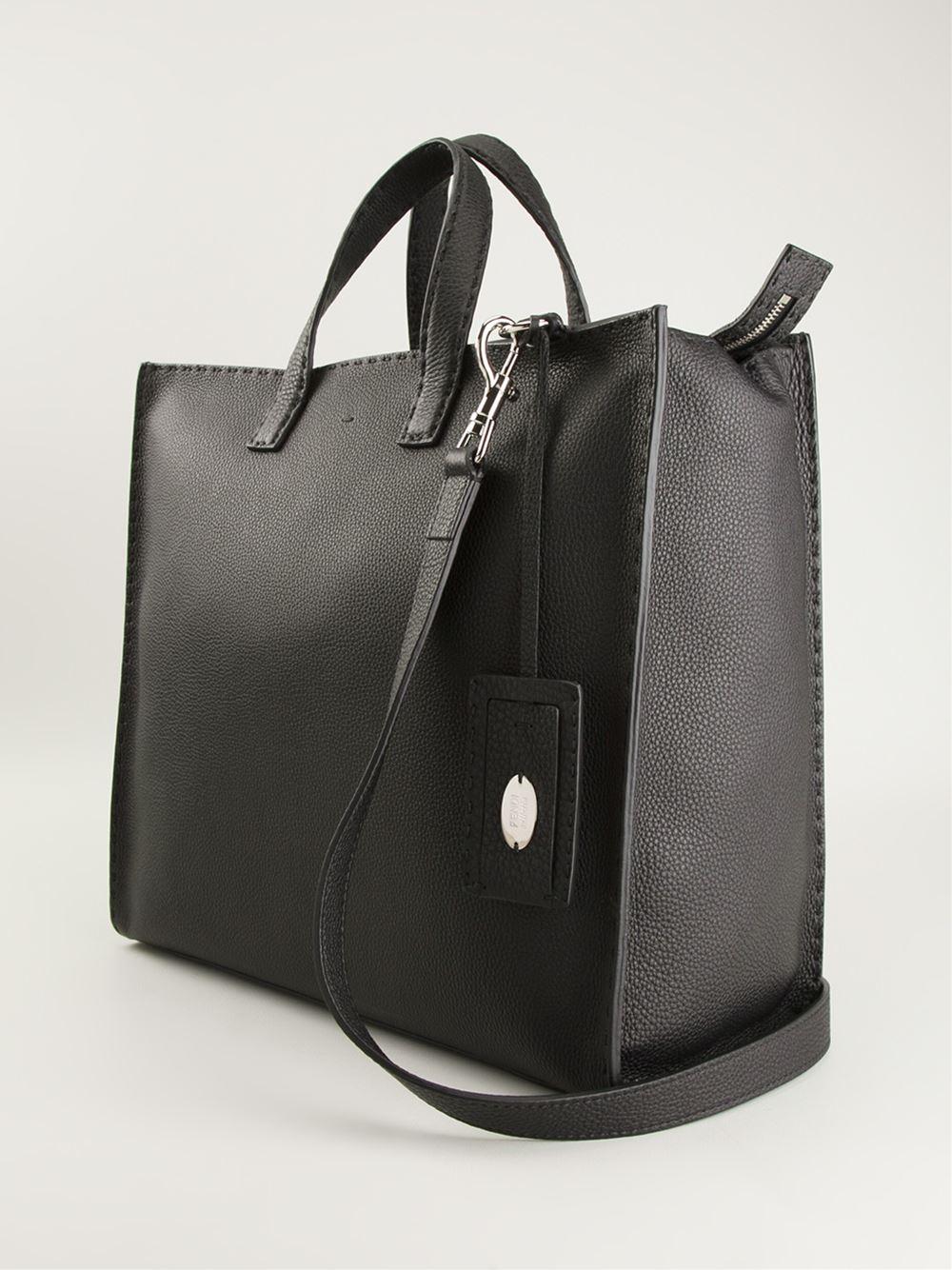 dd000c764162 coupon code for fendi selleria medium leather tote tote bags 502731239  be39c 6135b  low cost lyst fendi selleria tote in black for men 2494d f77eb
