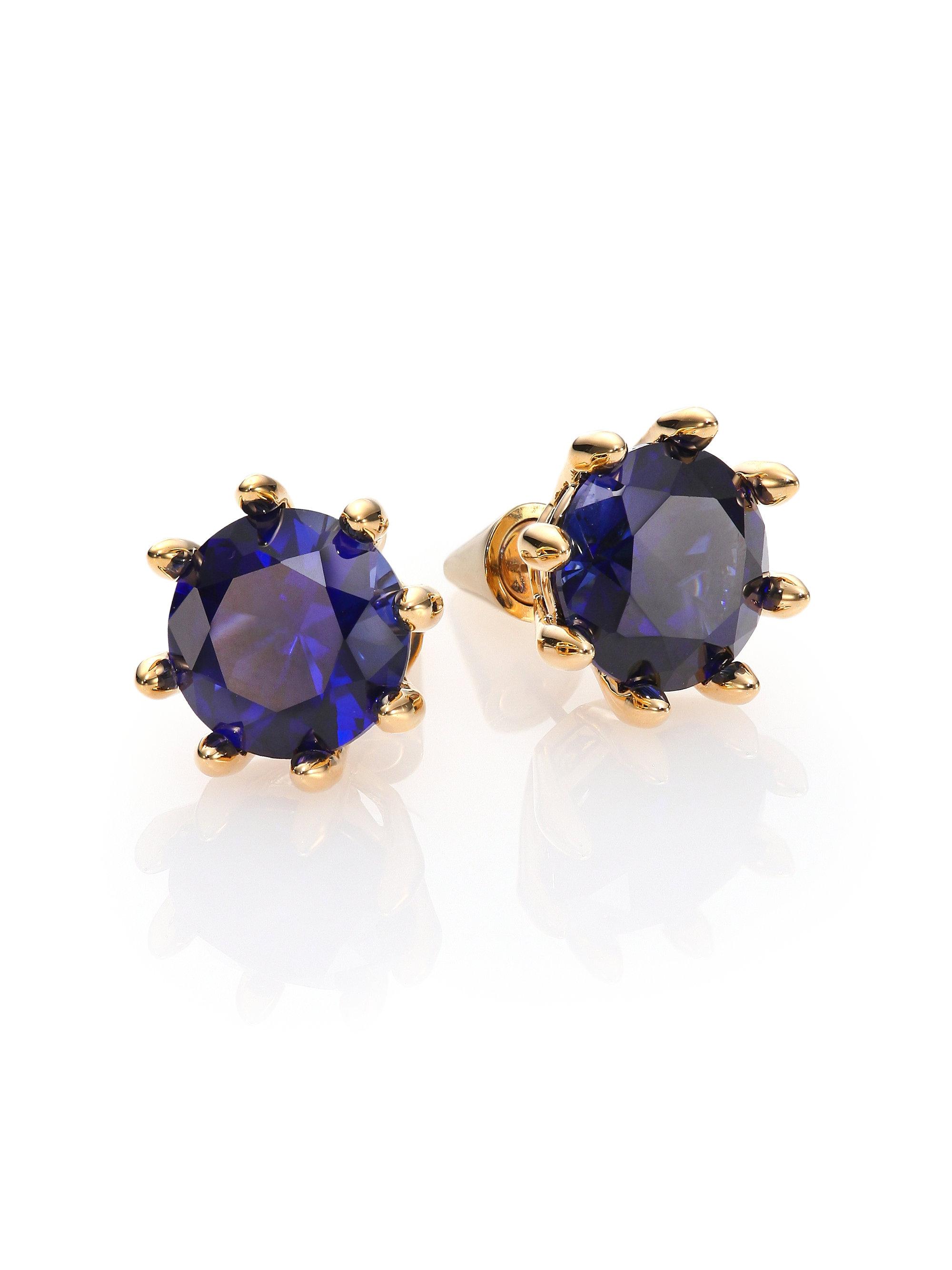 Eddie Borgo Circle Estate Cubic Zirconia Earrings In