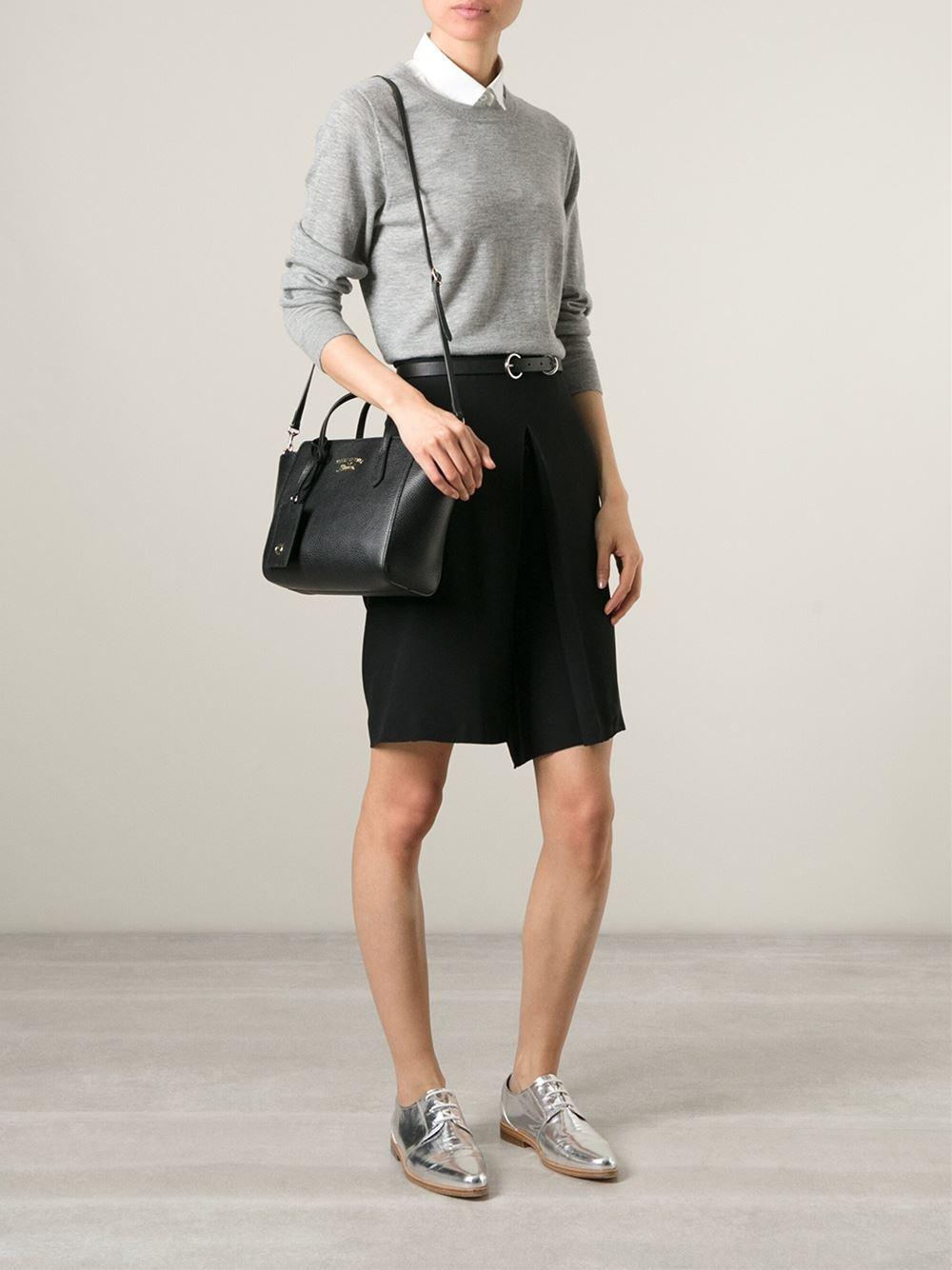 7952049369aca Lyst - Gucci Mini  swing  Tote in Black