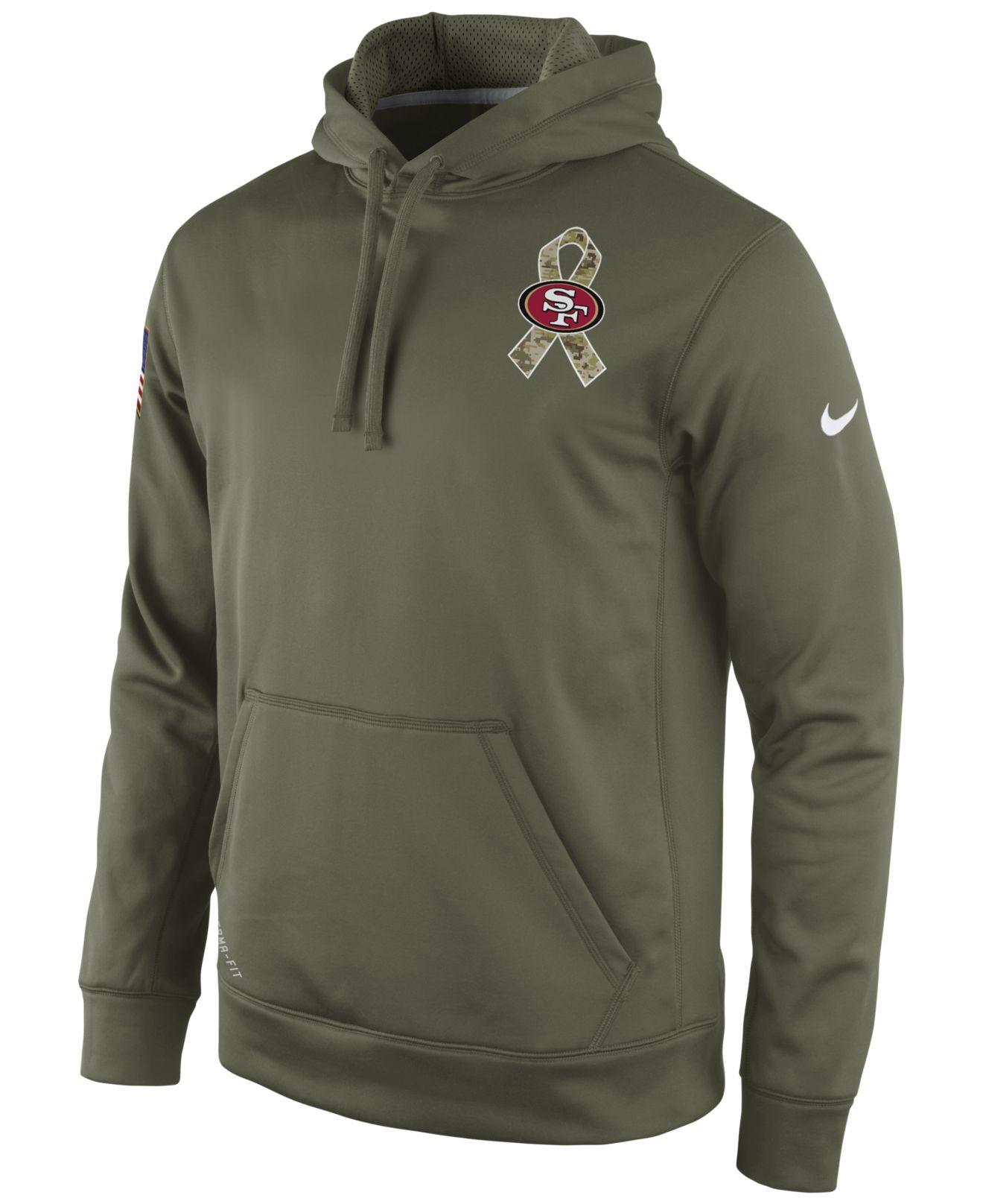 d081c6691 ... Shirt Nike MenS San Francisco 49Ers Salute To Service Ko Hoodie in NFL  San Francisco 49ers Nike Olive Salute To Service KO Performance Dri-FIT T-  ...