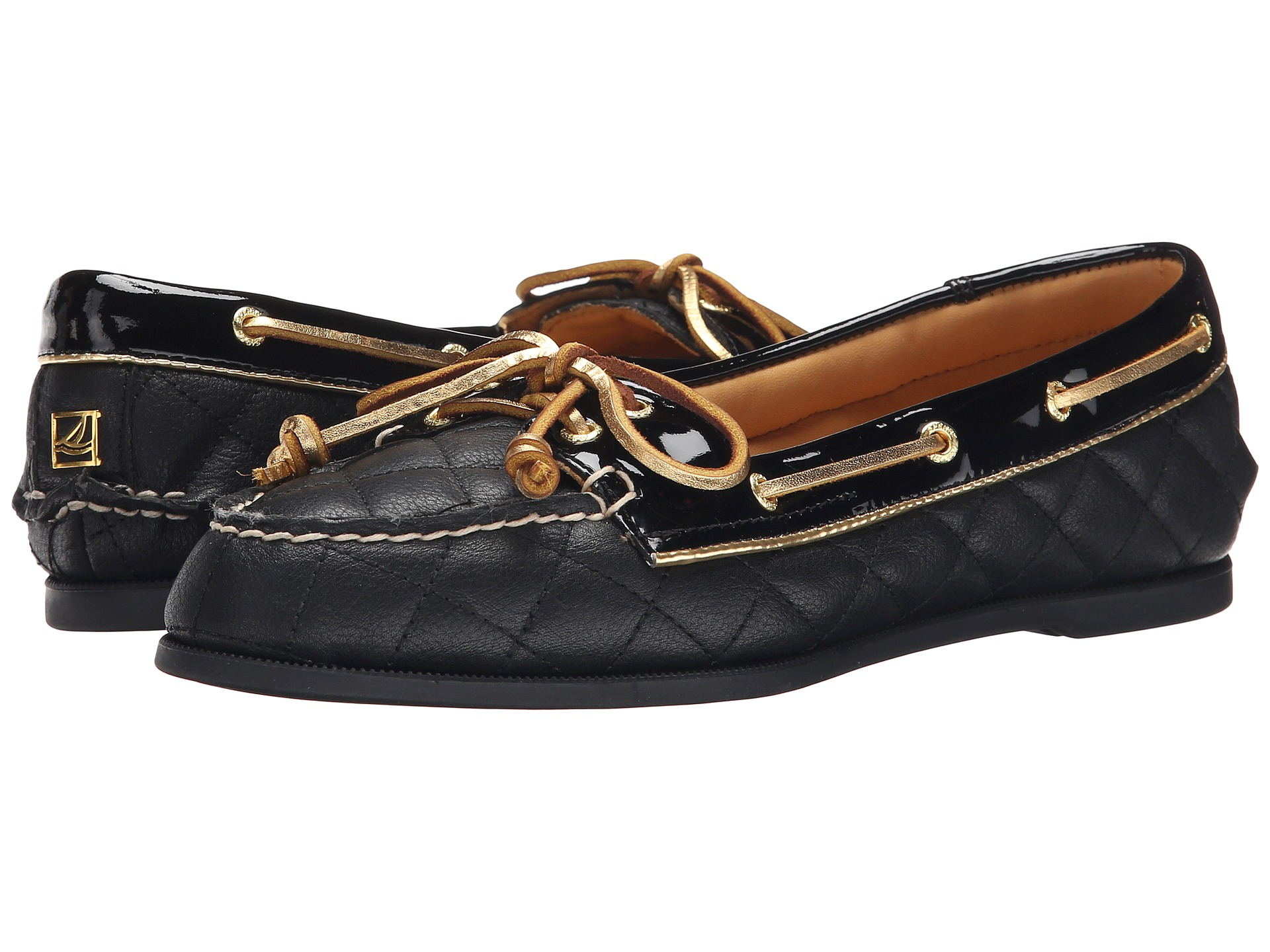 Sperry top-sider Gold Cup Audrey in Black (Black Quilted ... |Sperry Gold