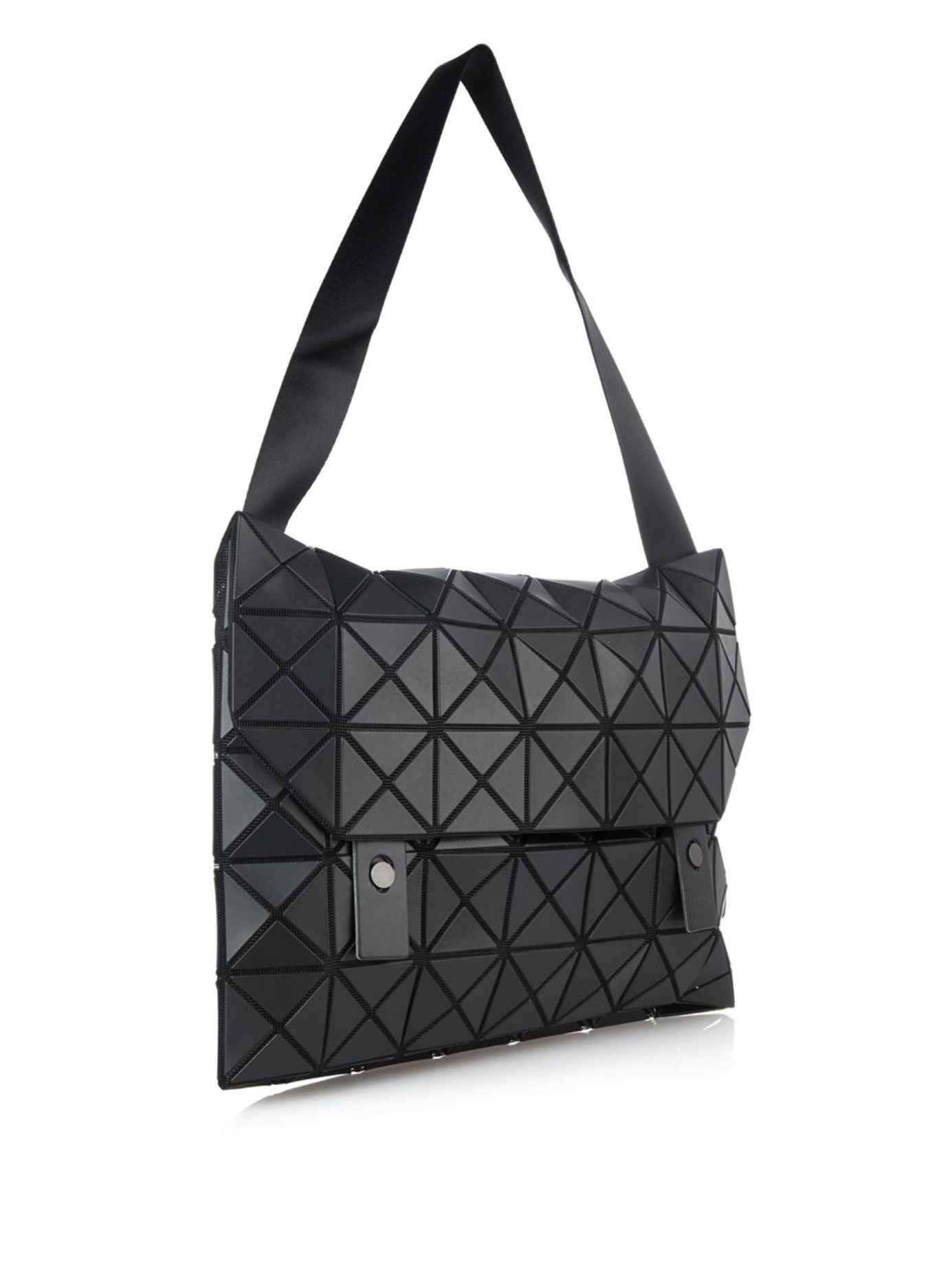 Lyst - Bao Bao Issey Miyake Prism Messenger Bag in Black for Men 0ee69deb7d2c0
