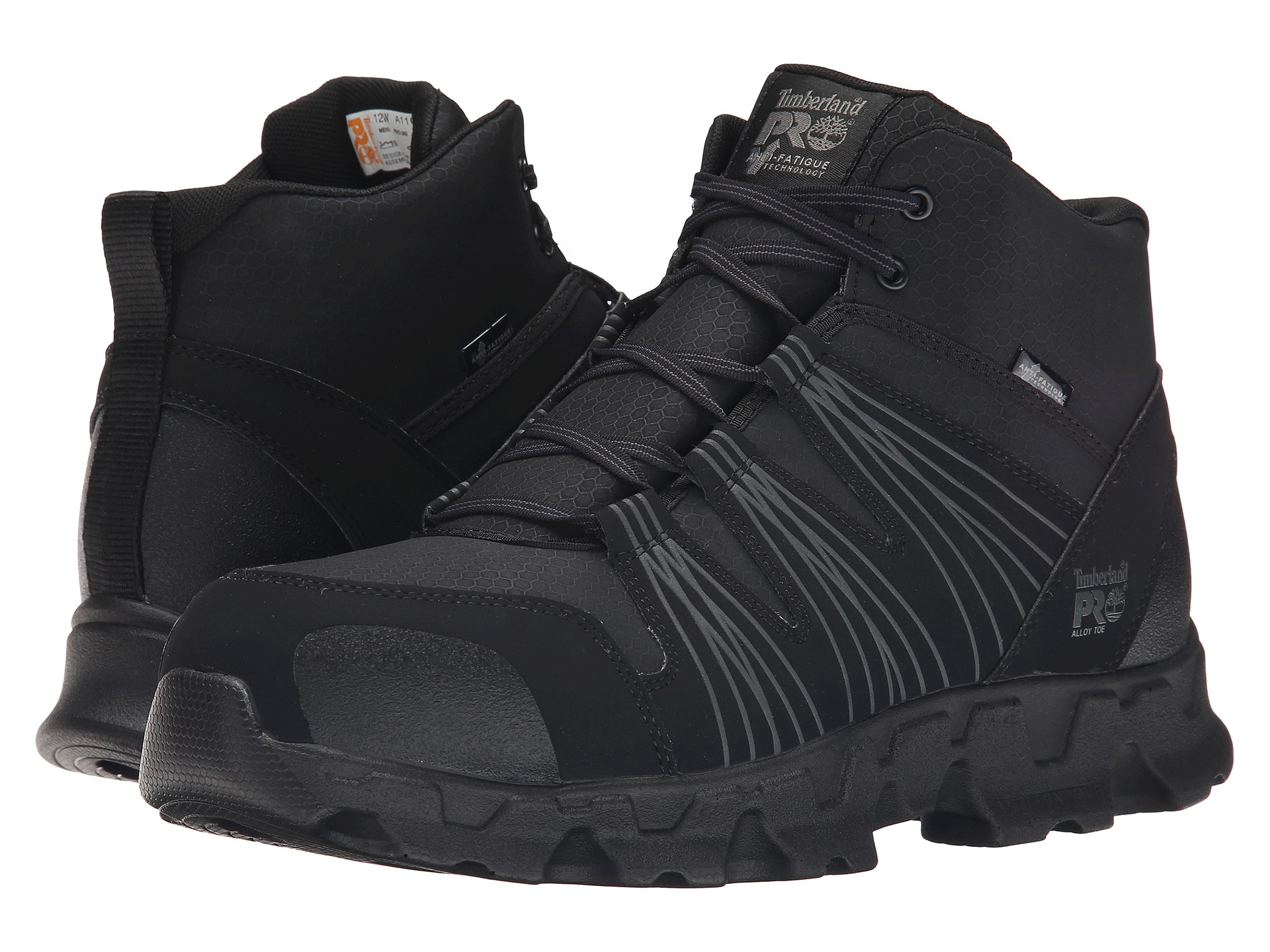 Timberland Powertrain Mid Alloy Safety Toe Esd In Black