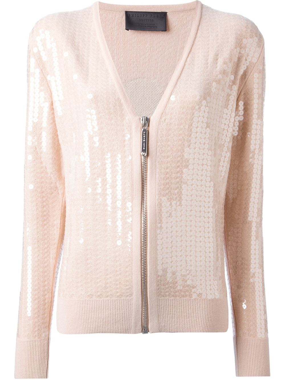 Philipp plein 'Mickey Mouse' Sequin Cardigan in Pink | Lyst