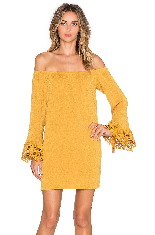 Vava by joy han Joanne Off Shoulder Dress in Yellow | Lyst