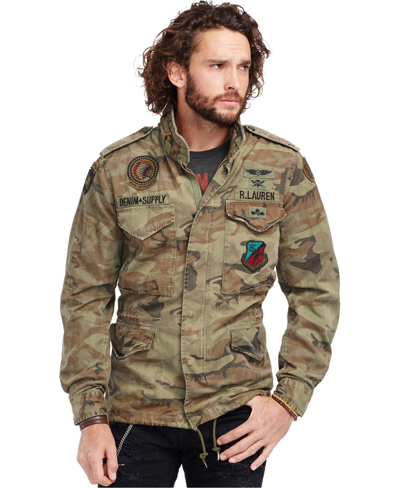 6b9c161f9baac Denim & Supply Ralph Lauren Camouflage Canvas Field Jacket for Men ...