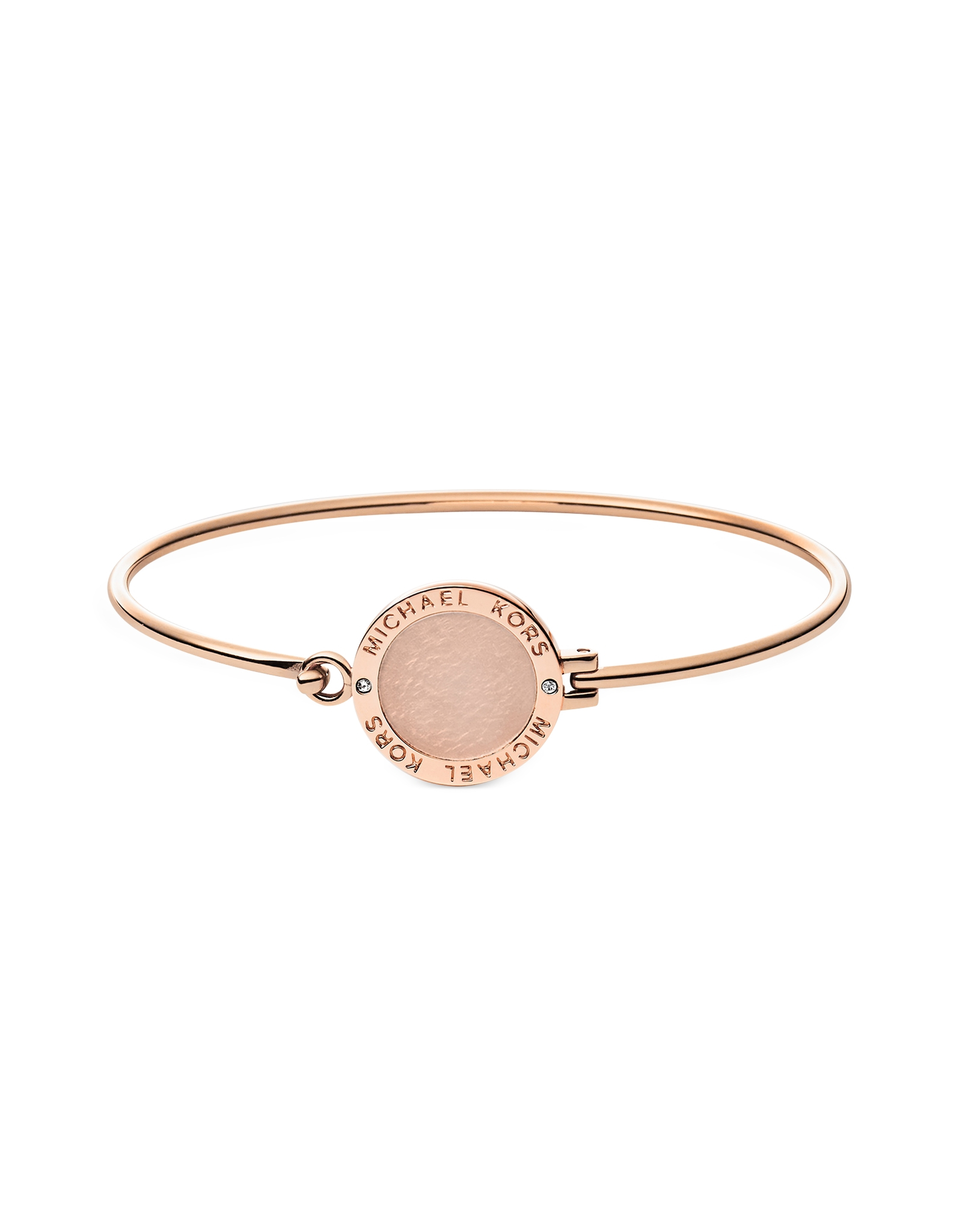 fd8e306f9be8 Michael Kors Rose Gold Plated And Crystal Pink Friendship Bracelet ...