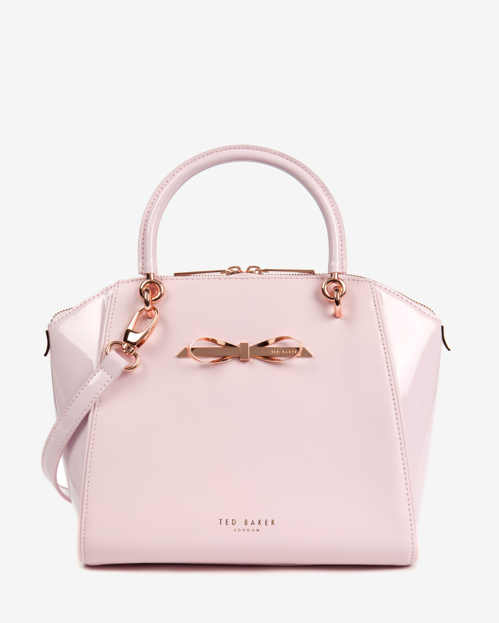 Lyst Ted Baker Small Slim Bow Tote Bag In Pink