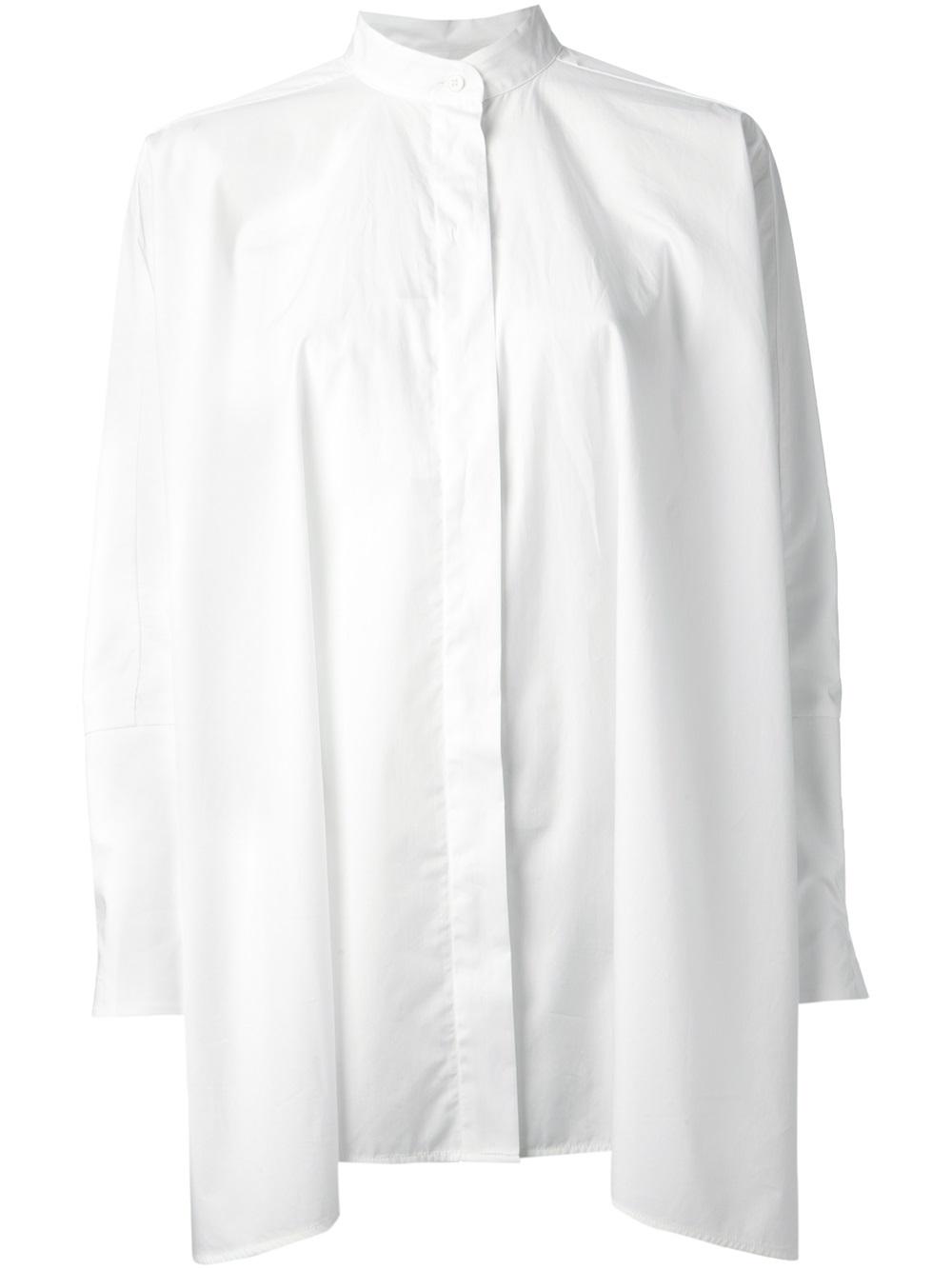 fringed short-sleeve blouse - White Maison Martin Margiela Clearance Ebay New Styles Cheap Online Buy Cheap Perfect Discounts Sale Cheapest nRtklU