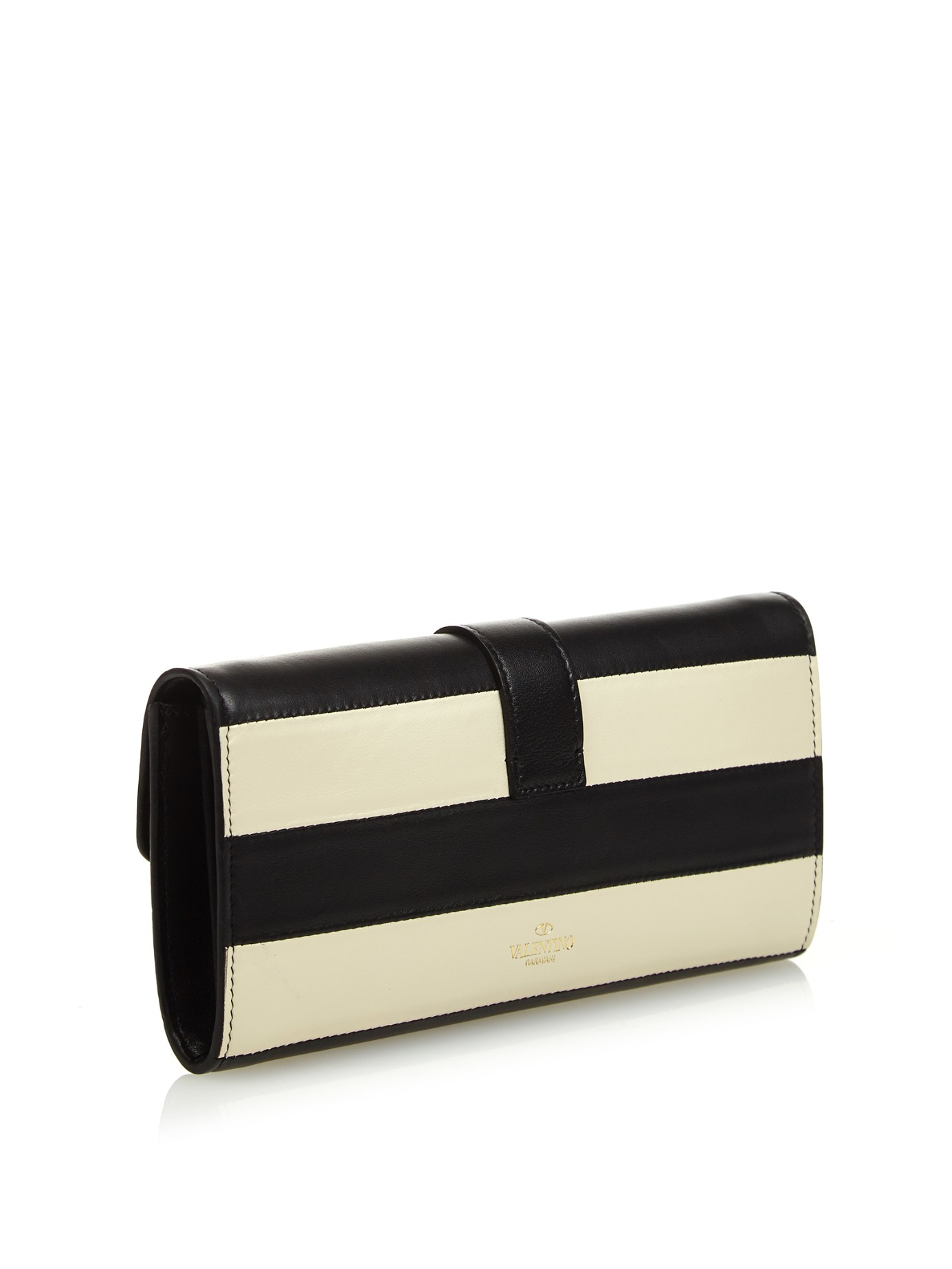 Valentino Striped Rockstud wallet wDzBapMW7