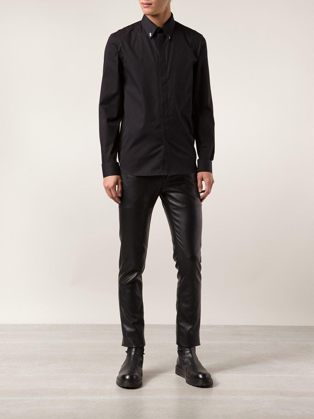 givenchy 39 17 39 classic shirt in black for men lyst. Black Bedroom Furniture Sets. Home Design Ideas