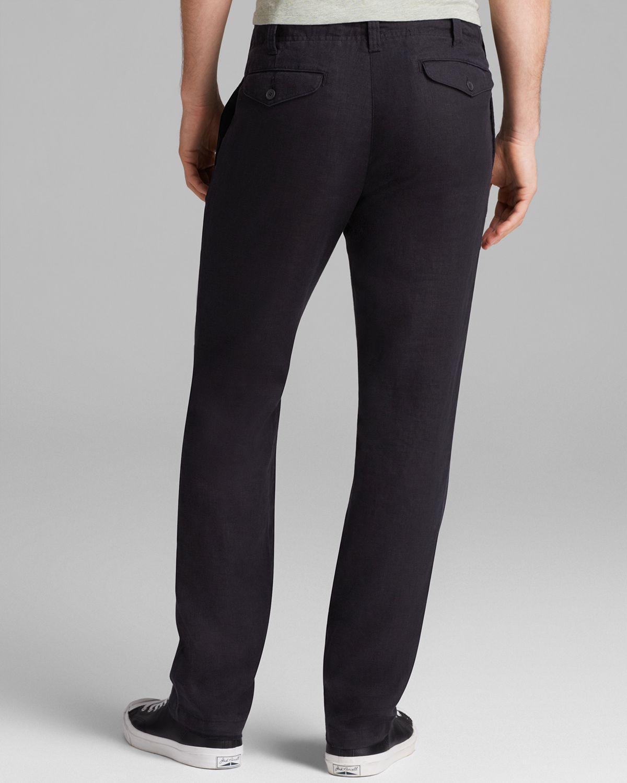 Lyst Vince Linen Drawstring Pants In Black For Men