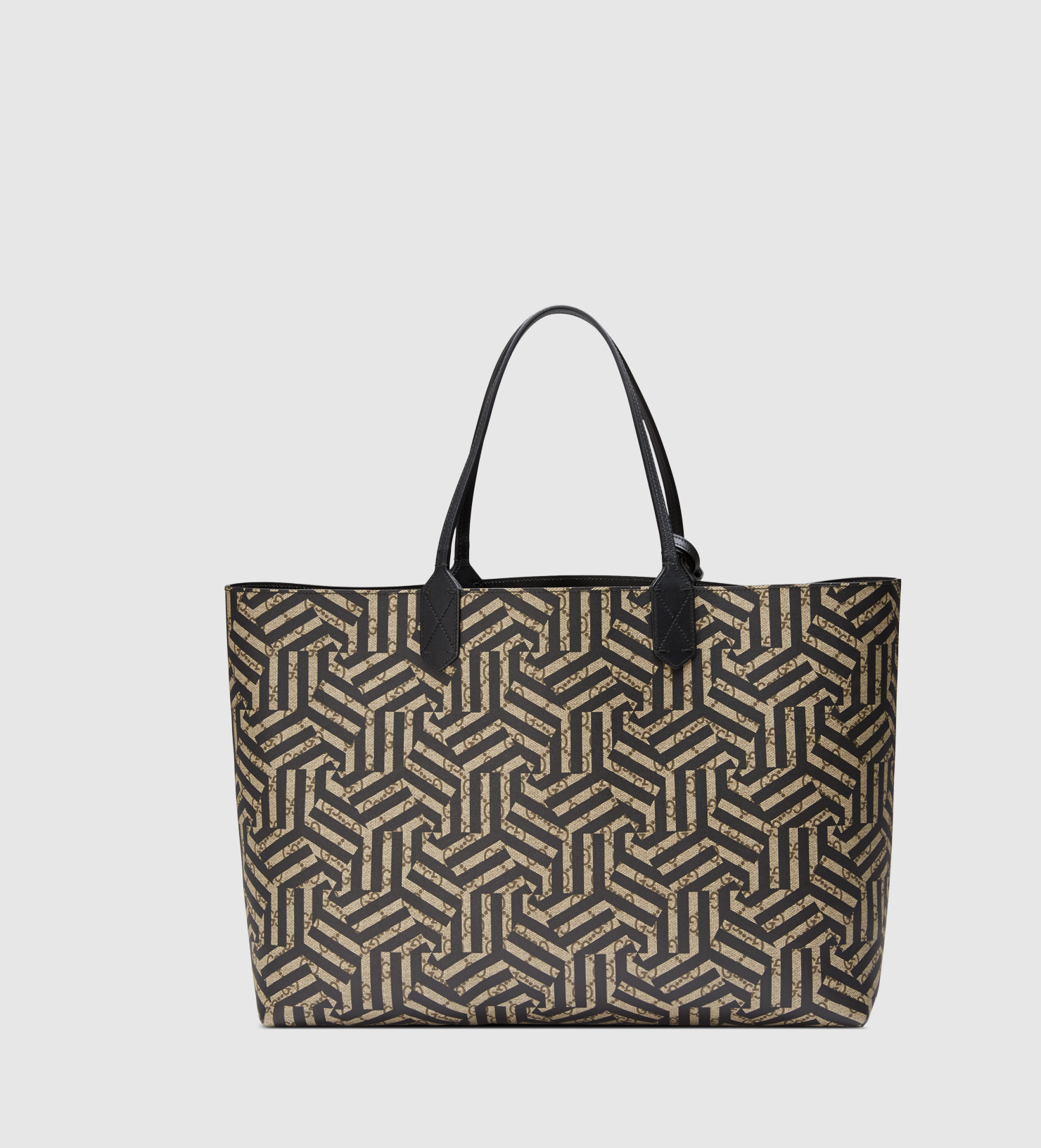 552c3349537f Gucci Reversible Gg Caleido Leather Tote in Natural for Men - Lyst