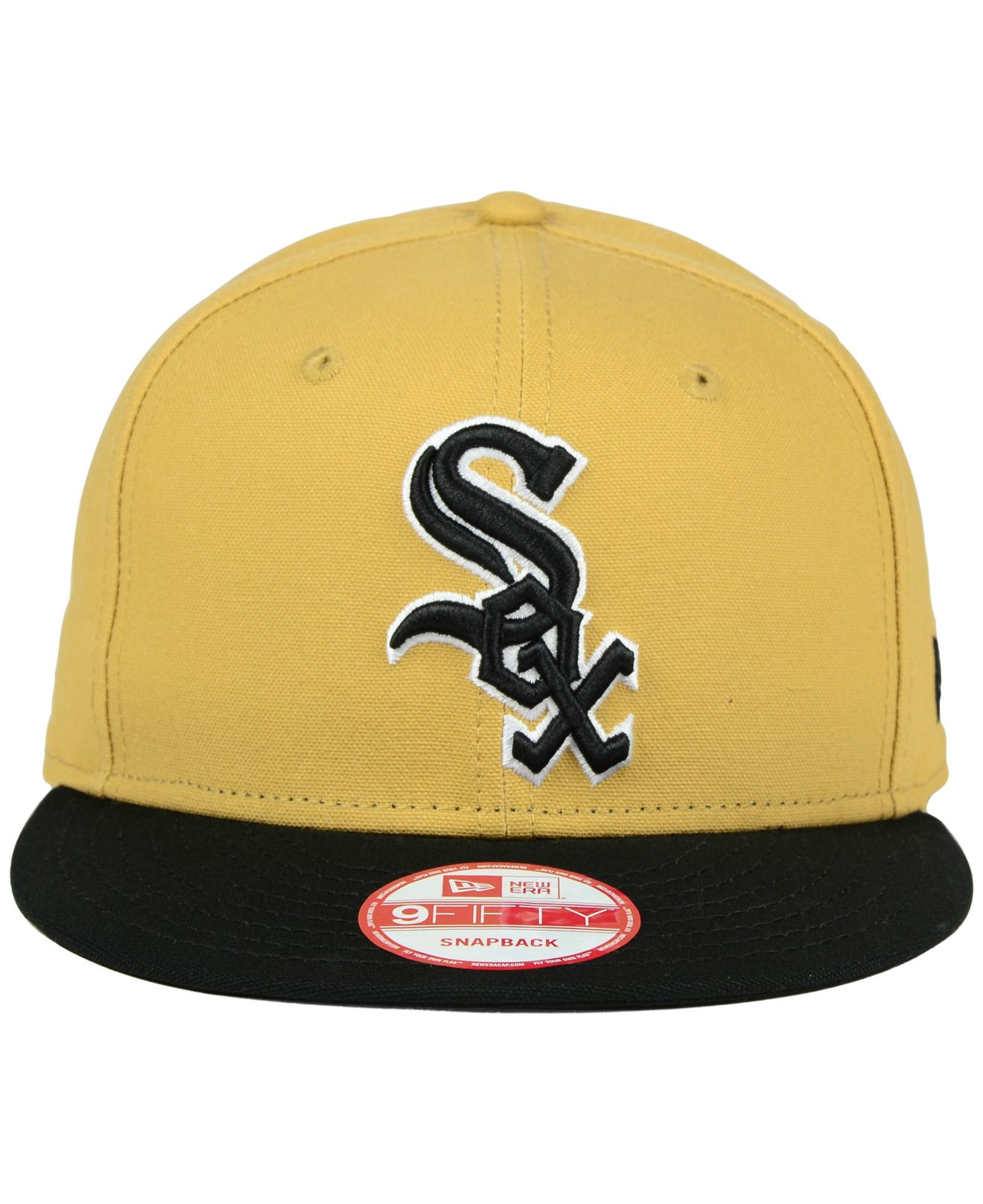the best attitude f5685 4d00e KTZ Chicago White Sox Classic Canvas 9fifty Snapback Cap in Yellow ...