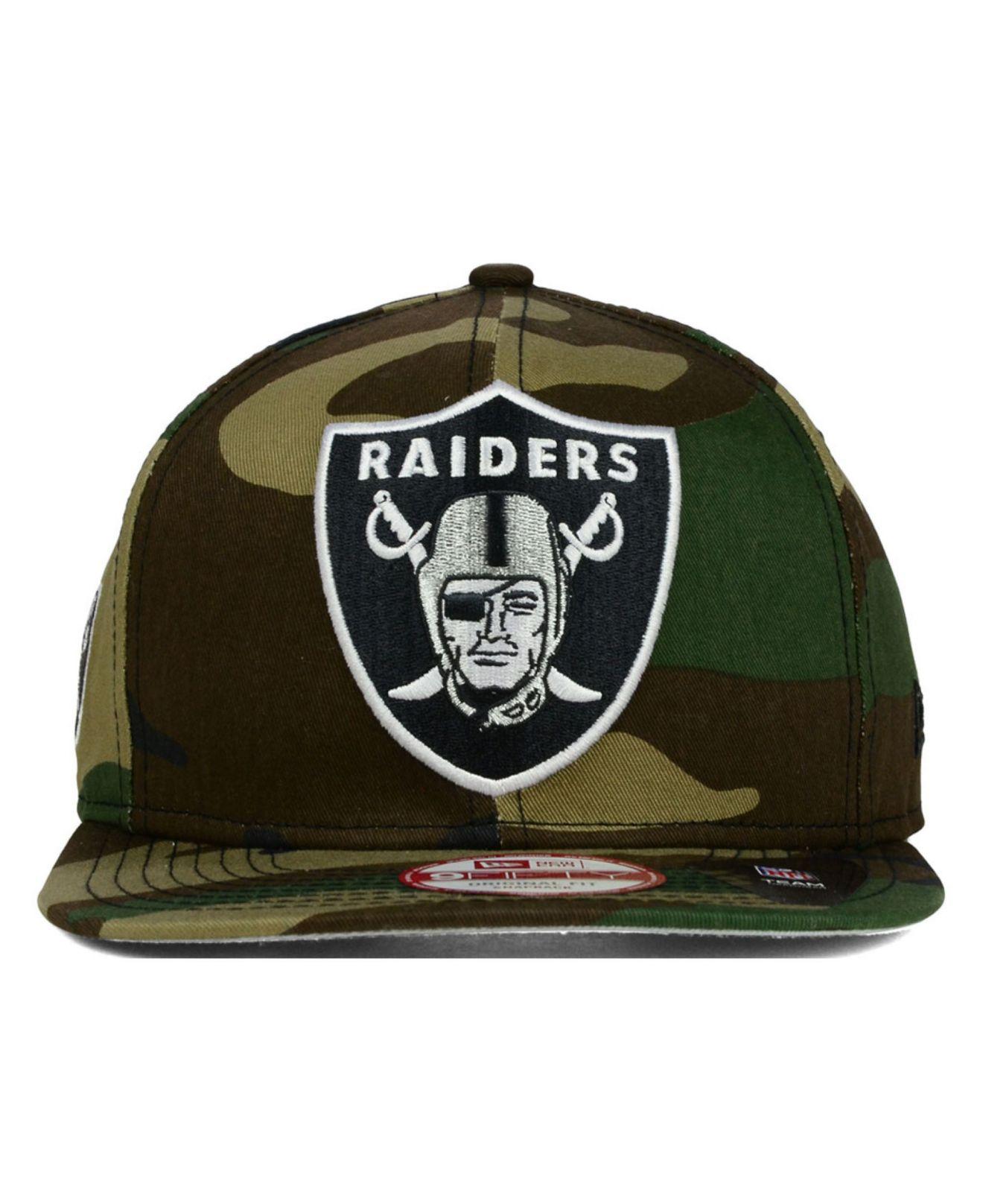 7d007e7f05d Lyst - KTZ Oakland Raiders Metallic Cue Original Fit Snapback Cap in Green  for Men