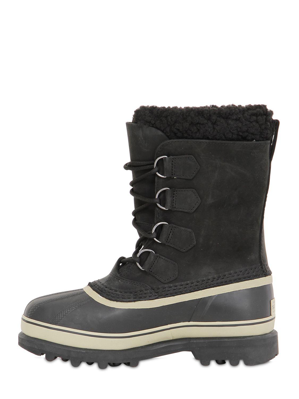 sorel tivoli ii suede warm s snow boots in black lyst