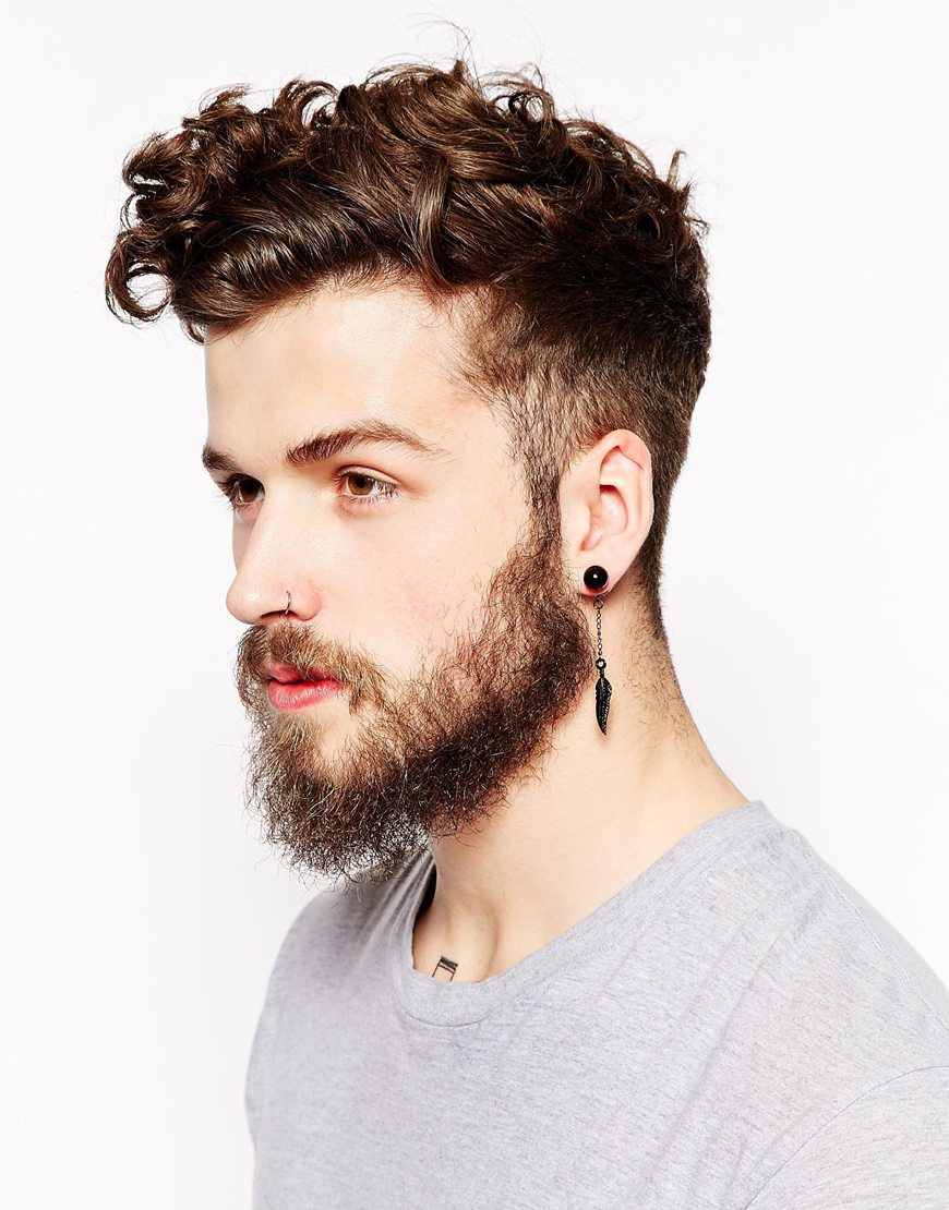Black Stud Earring Male The Best Produck Of