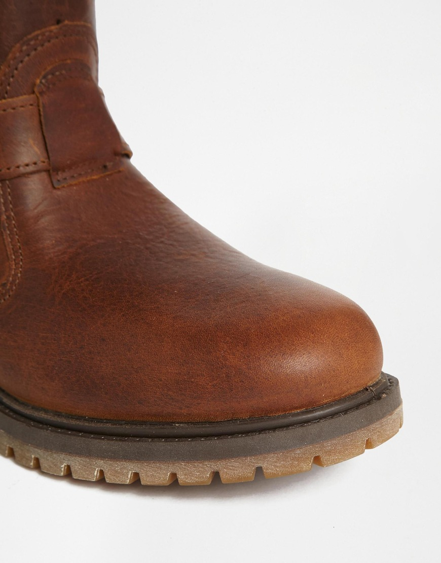 Timberland Nellie Brown Pull On Waterproof Boots in Brown | Lyst