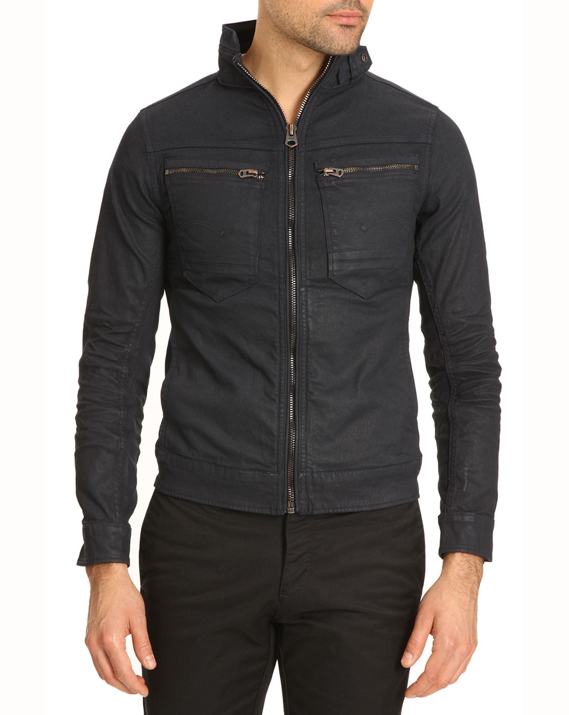 G Star Raw Arc Zip 3d Slim Dark Denim Jacket In Blue For