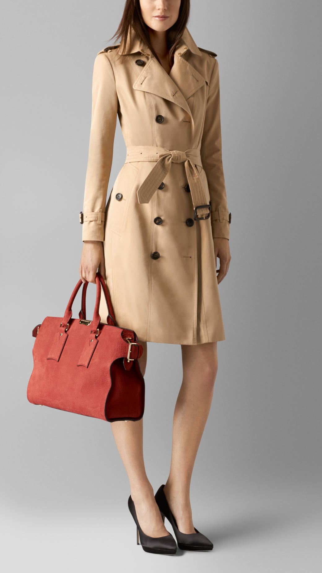 Lyst - Burberry The Large Clifton In Signature Grain Nubuck Leather ... 349c3d3b15324