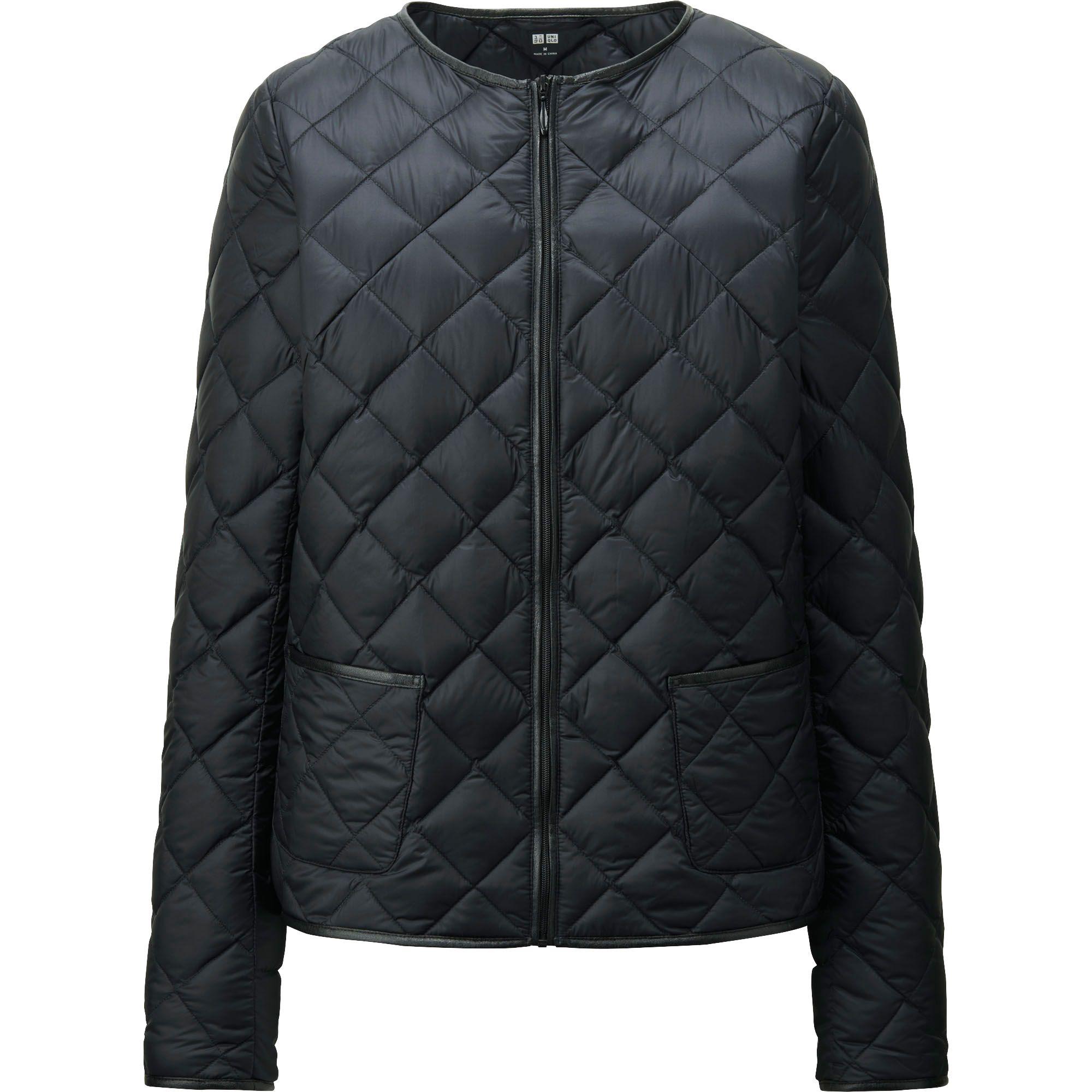 Uniqlo Women Ultra Light Down Collarless Jacket In Black