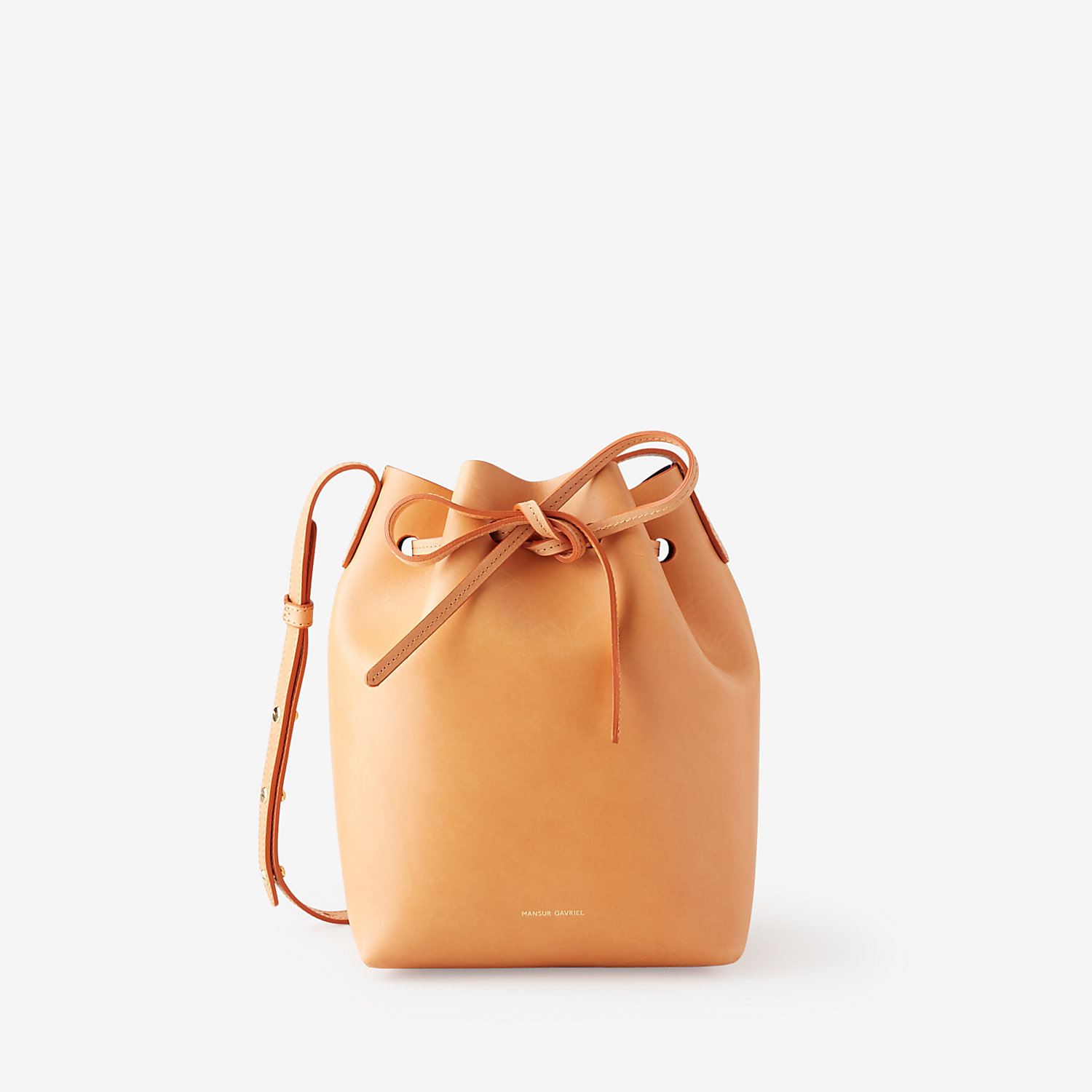 mansur gavriel mini bucket bag in orange cammello royal. Black Bedroom Furniture Sets. Home Design Ideas