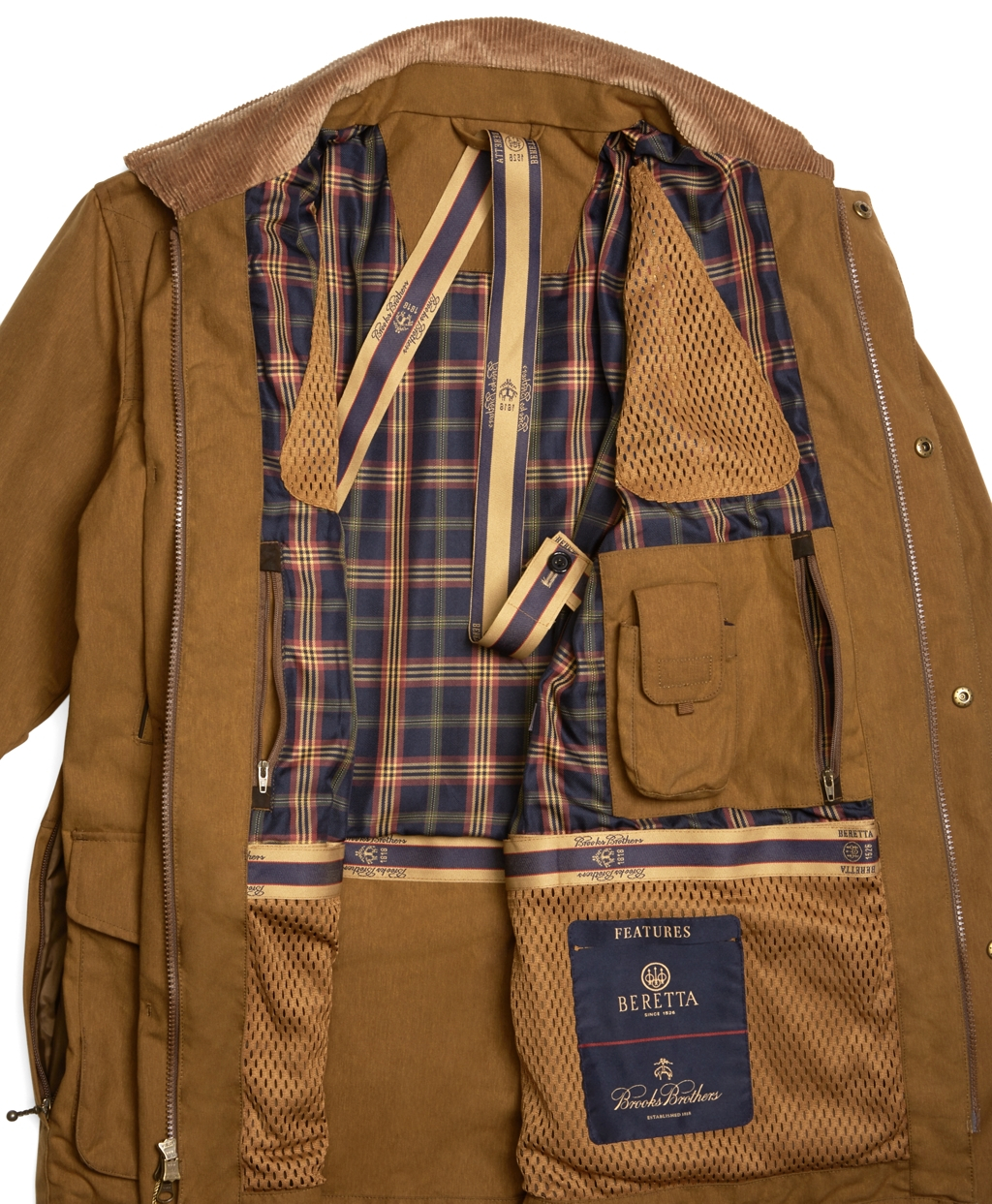 Lyst Brooks Brothers And Beretta Wax Jacket In Brown For Men