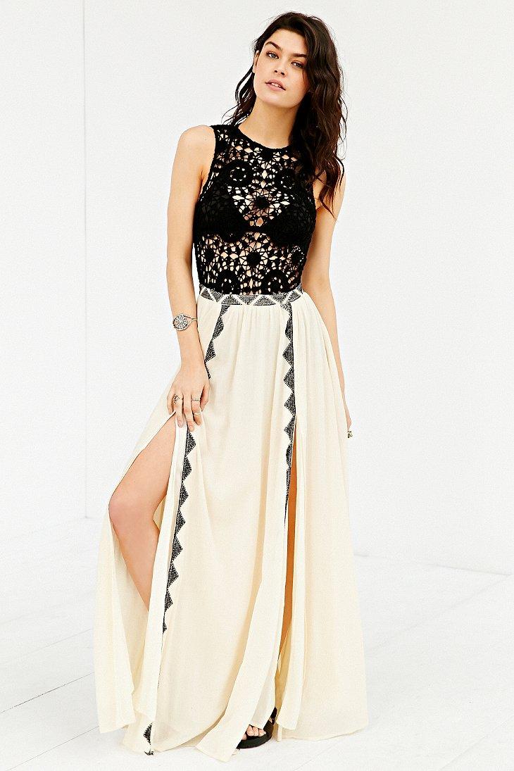 Lyst Amuse Society Sia Crochet Top Maxi Dress In White