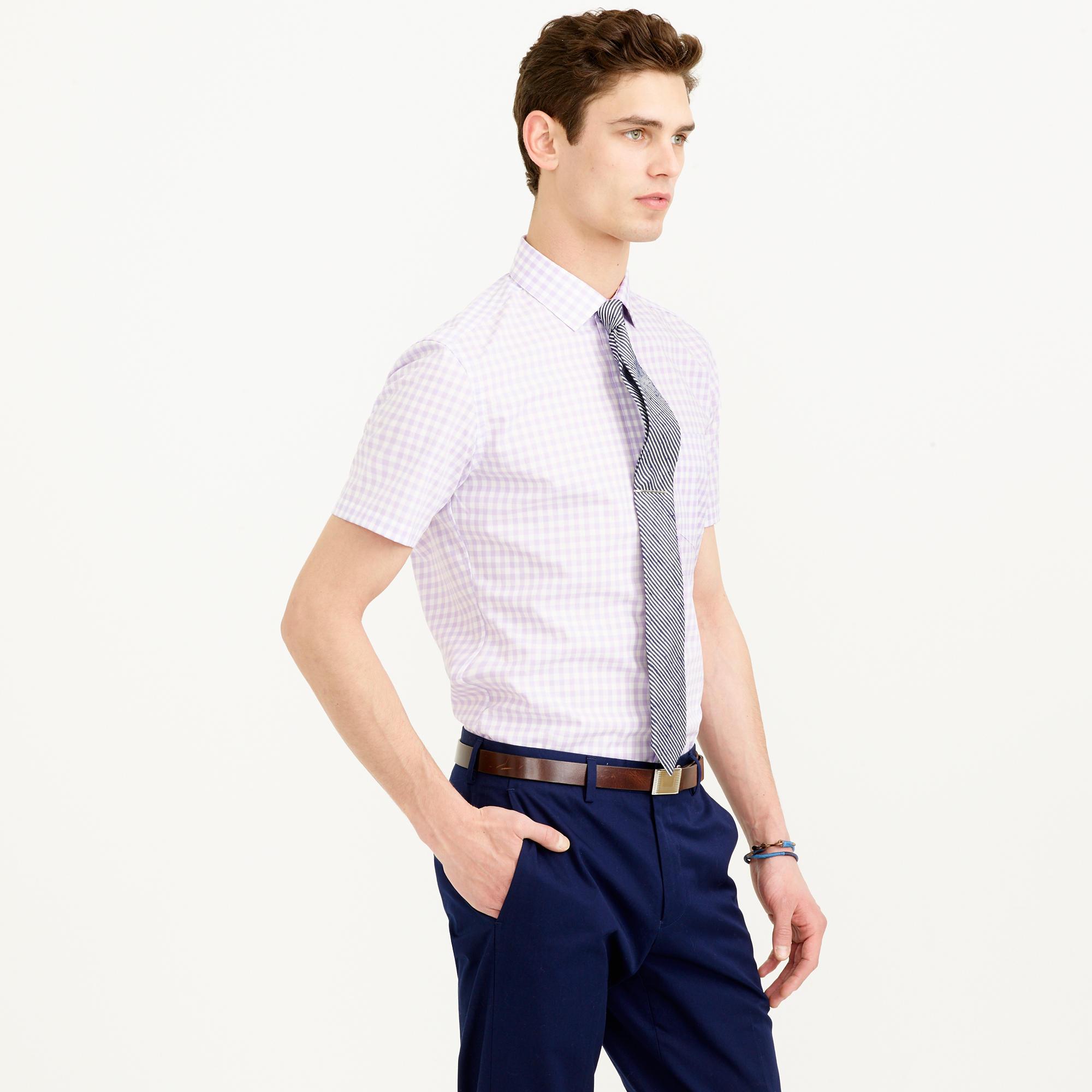 Thomas mason short sleeve ludlow shirt in violet for Thomas mason dress shirts