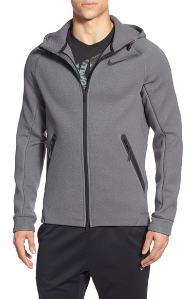 896a1d71f837 Lyst - Nike  therma-fit Sphere  Waterproof Zip Front Hoodie in Gray ...