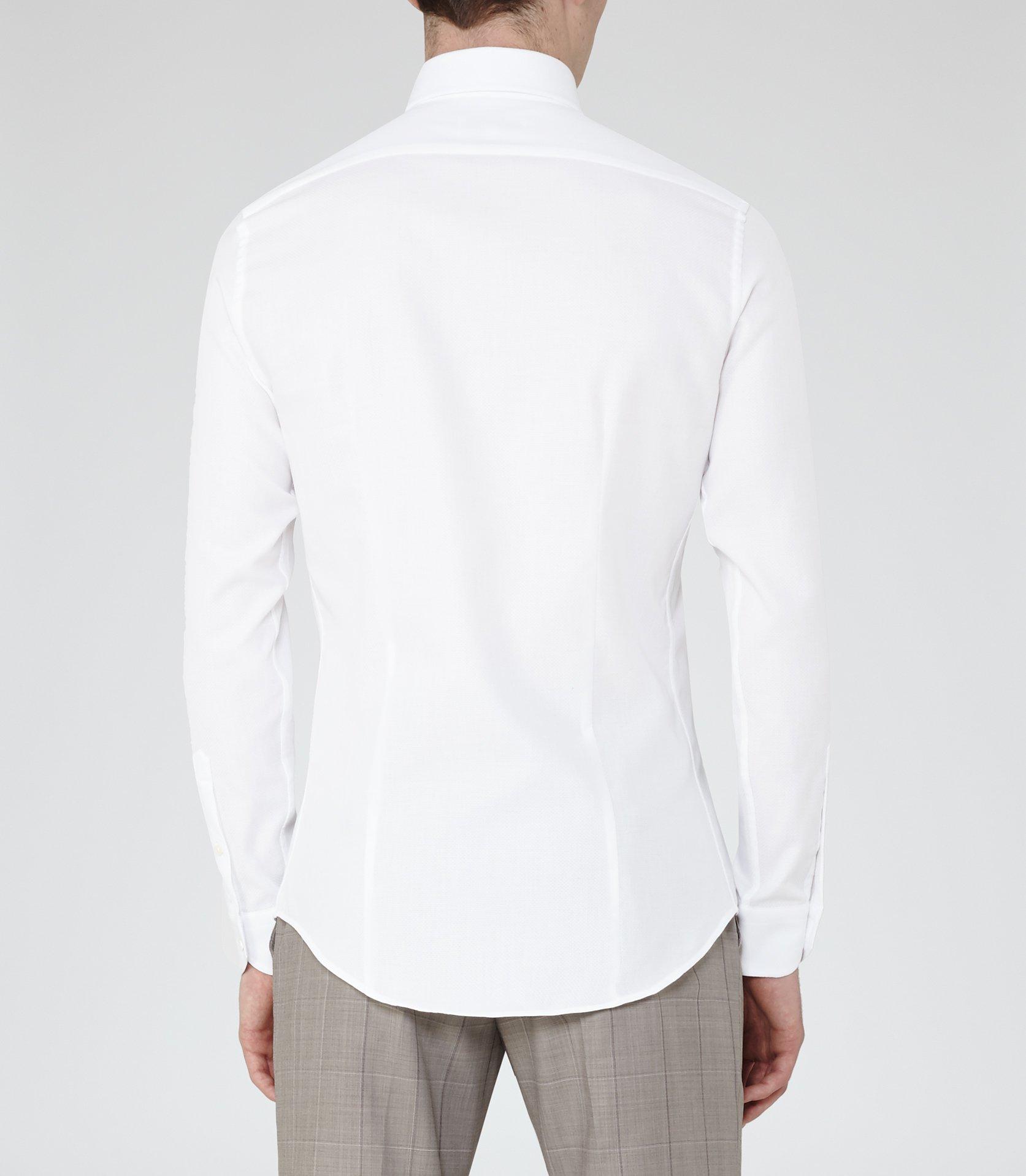Reiss Brock Cutaway Collar Shirt In White For Men Lyst