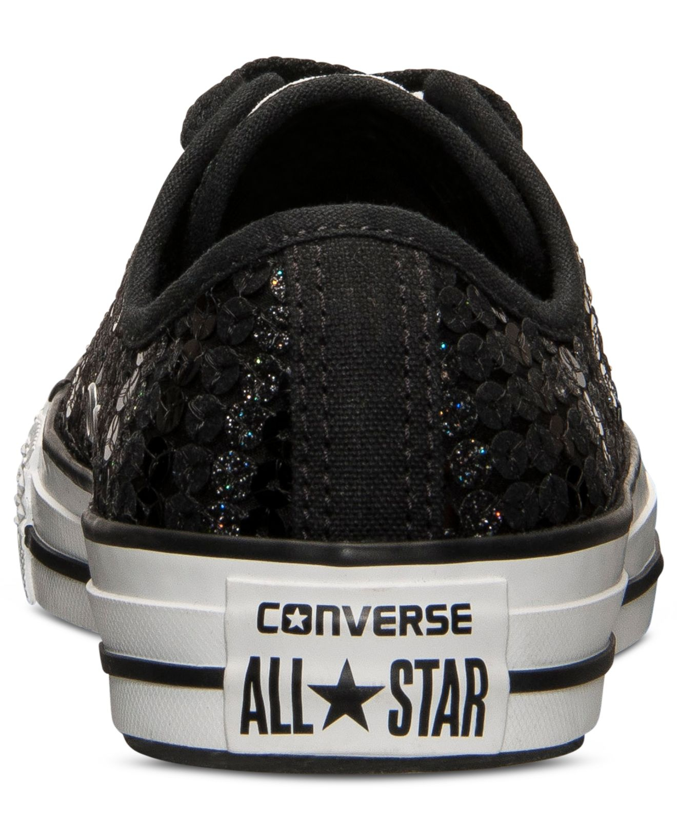 d3064f9beb26 Lyst - Converse Women s Chuck Taylor Ox Sequin Casual Sneakers From ...