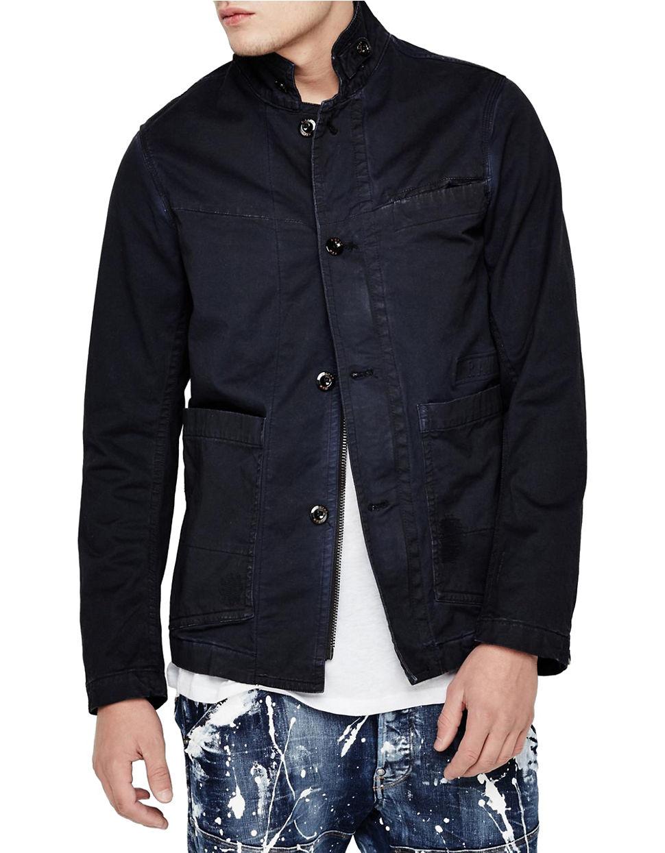 star raw bronson blazer jacket in blue for men lyst. Black Bedroom Furniture Sets. Home Design Ideas