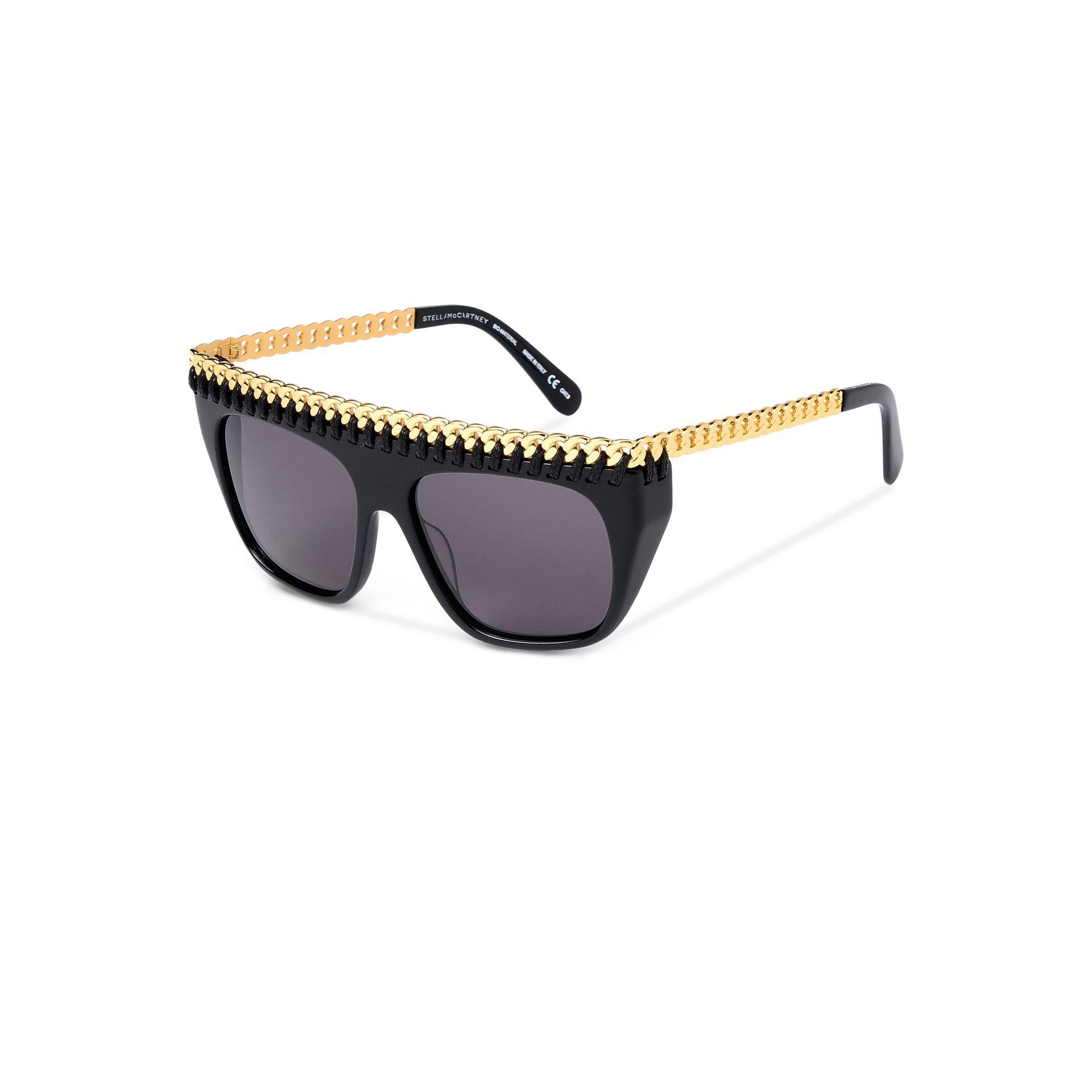 Black and Yellow Falabella Shield Sunglasses Stella McCartney VcvGF