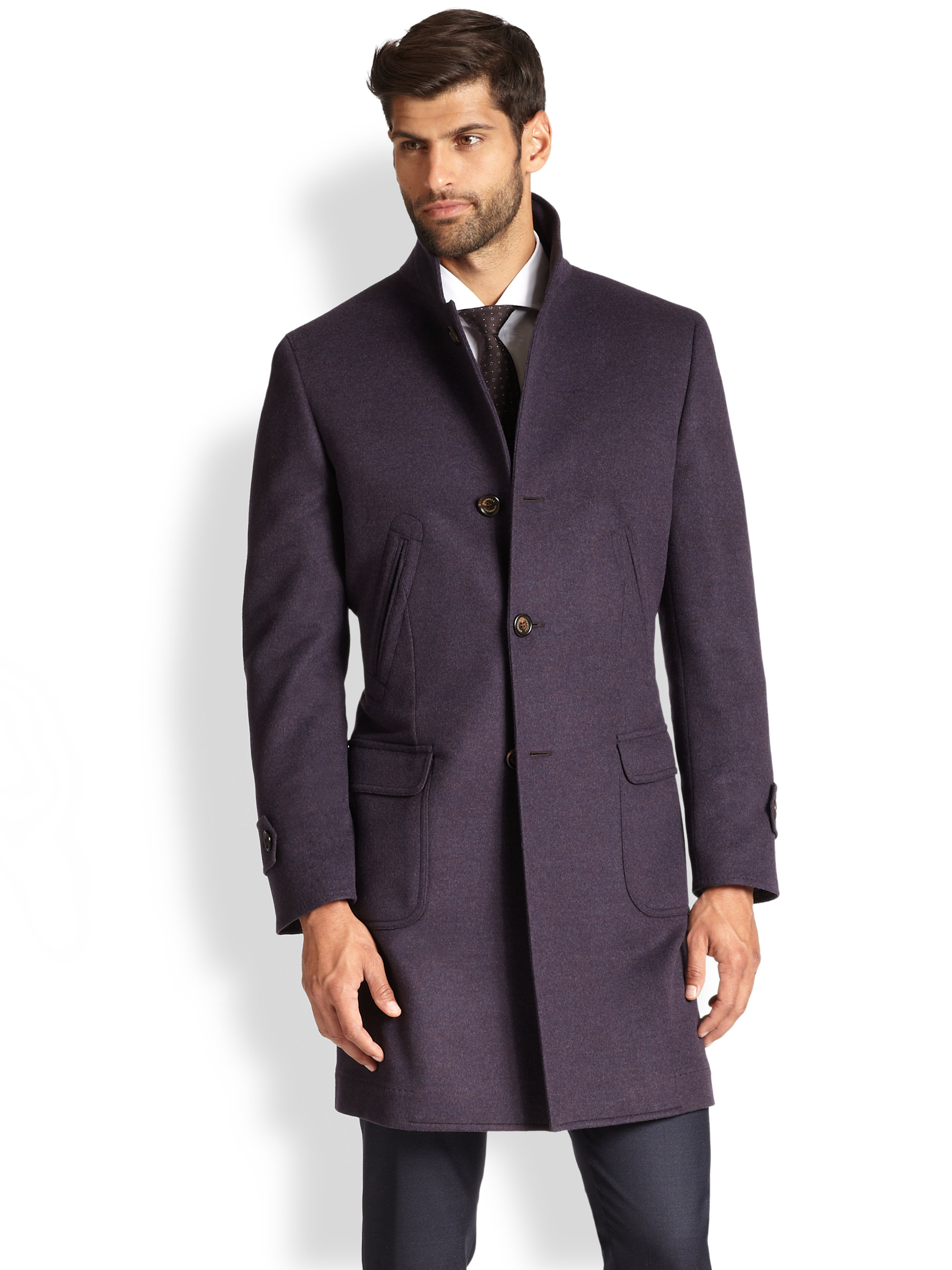 Cashmere Wool Coat Men
