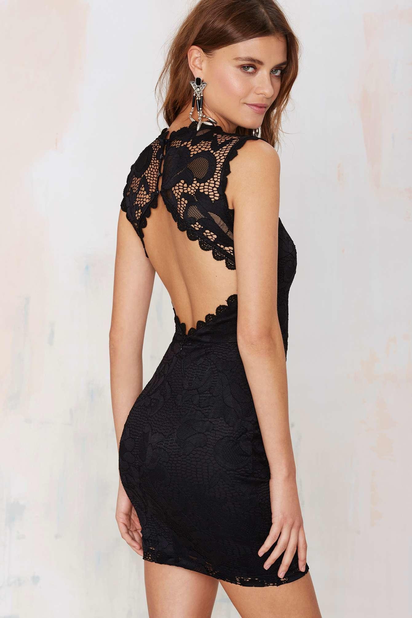 Lyst Nasty Gal Mandolay Lace Dress In Black