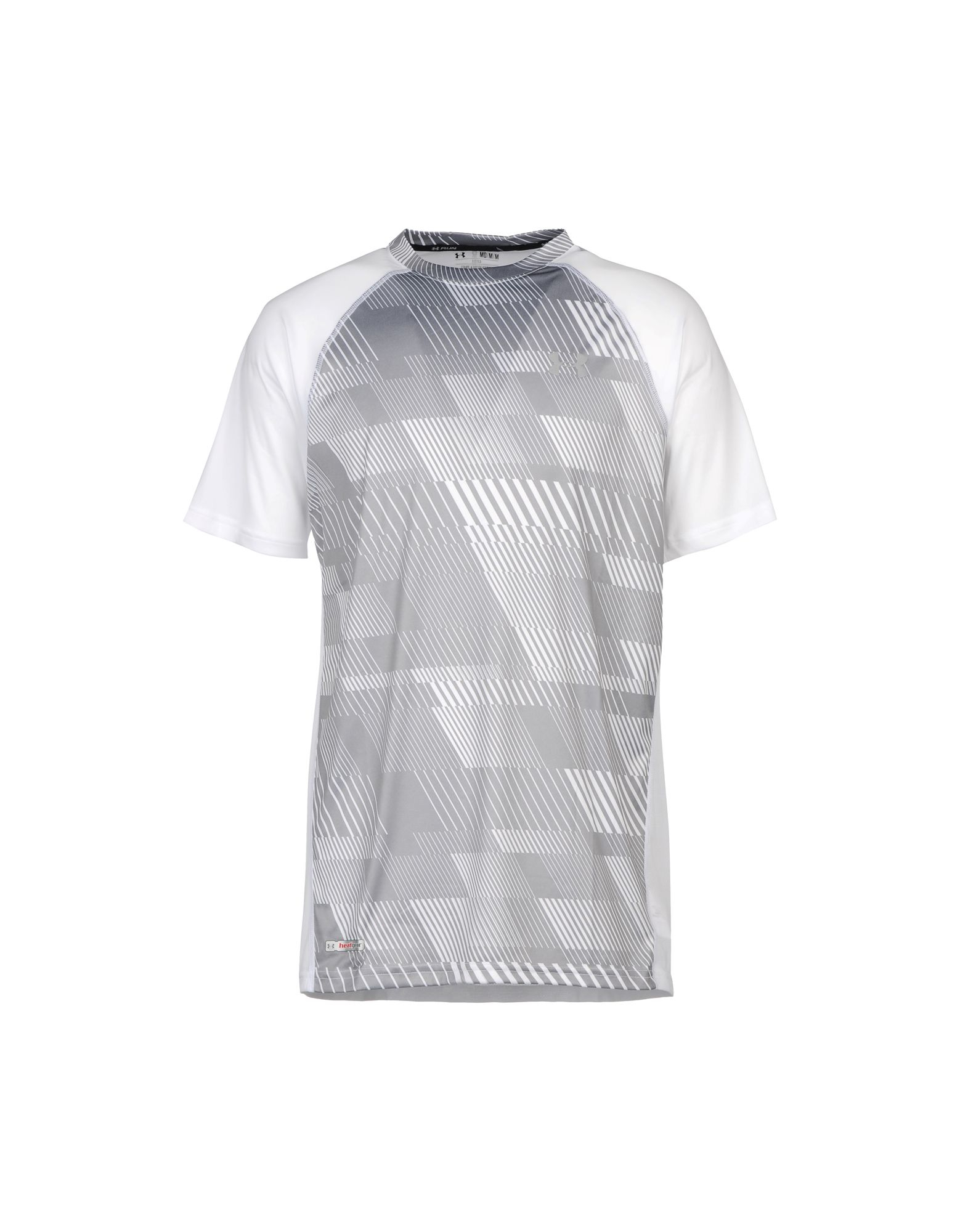 Under armour t shirt in gray for men grey lyst for Gray under armour shirt