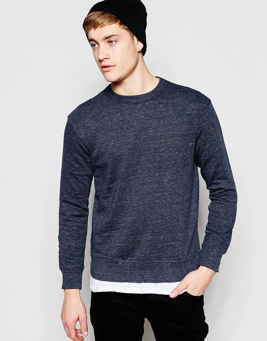 jack jones sweatshirt in blue for men lyst. Black Bedroom Furniture Sets. Home Design Ideas