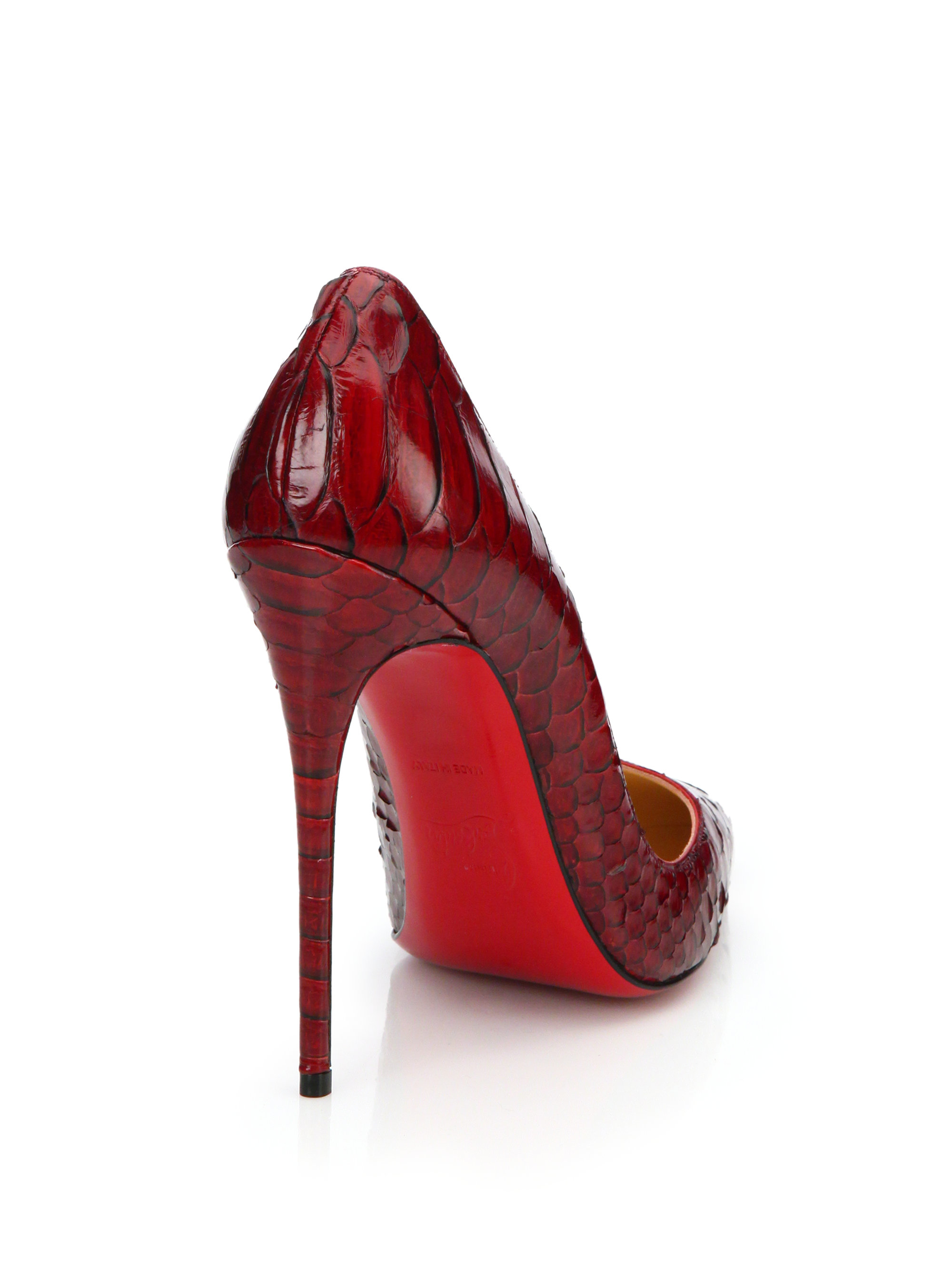 19cebe592791 Lyst - Christian Louboutin So Kate Python Pumps in Red