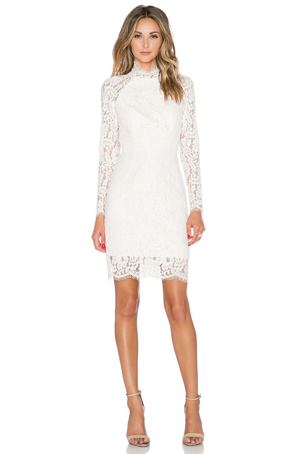 One night long sleeve lace dress