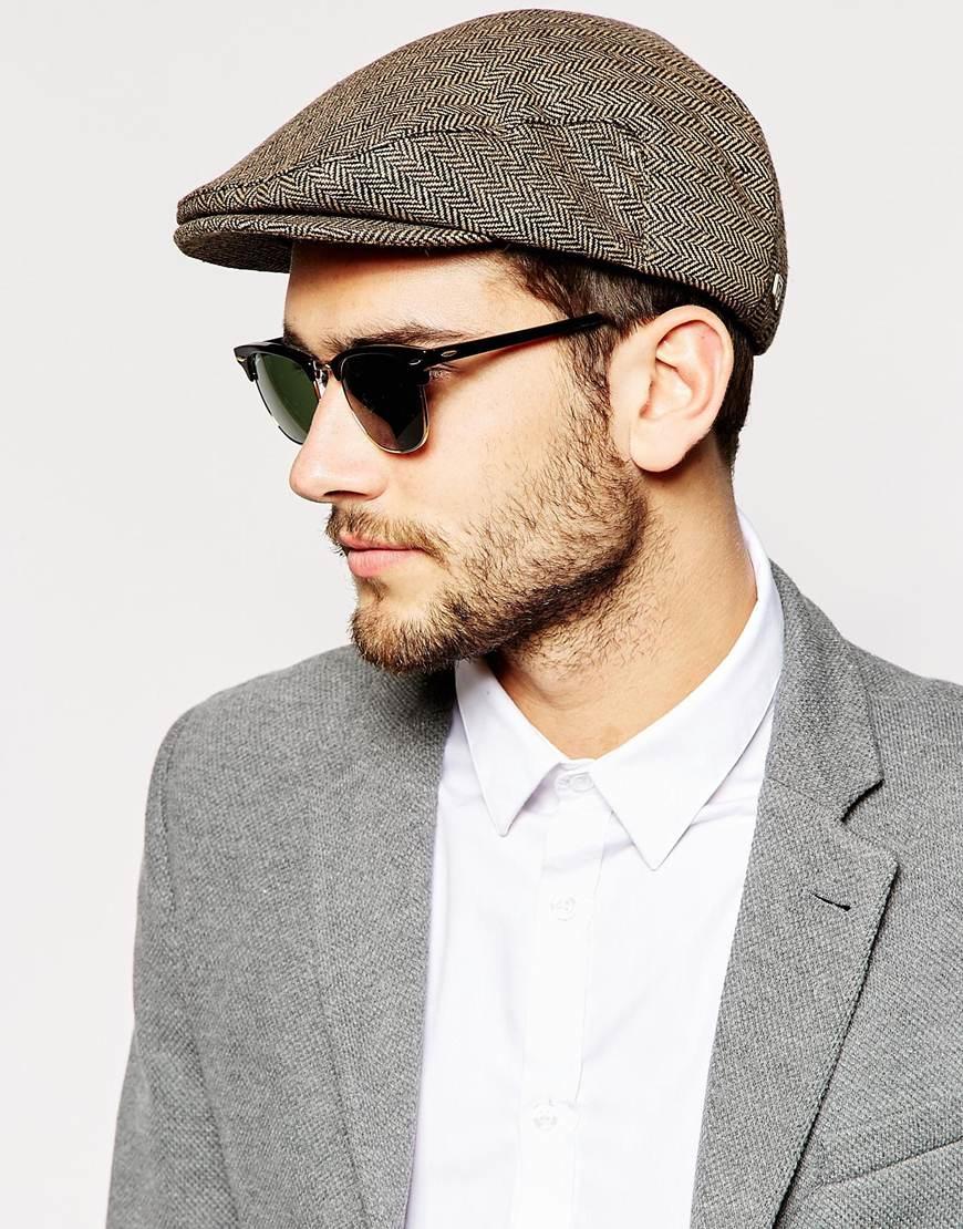 Lyst - Brixton Hooligan Flat Cap in Brown for Men a45370fce24d