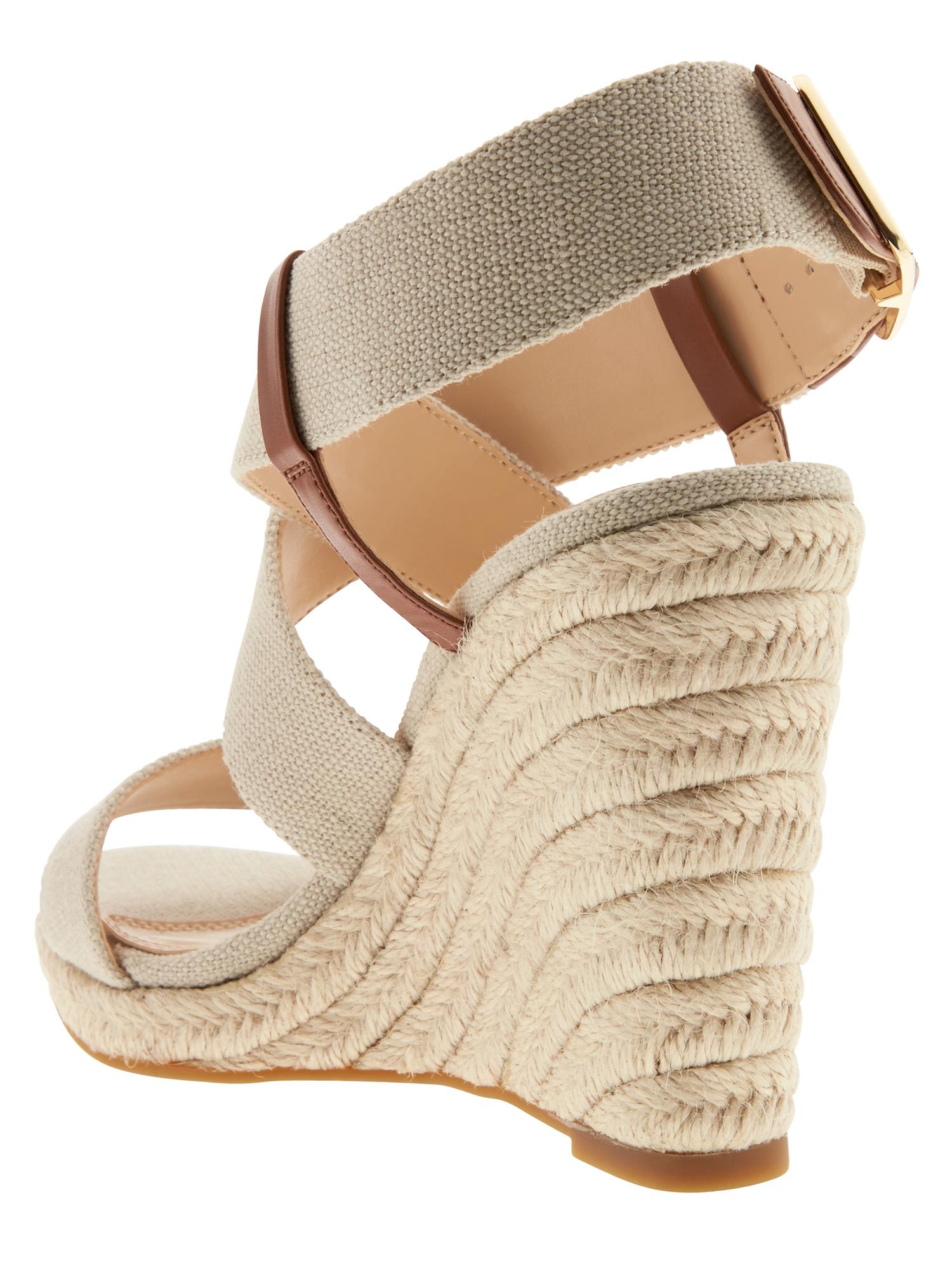 e96830d1e22 Lyst - Banana Republic Tecla Espadrille Sandal in Natural