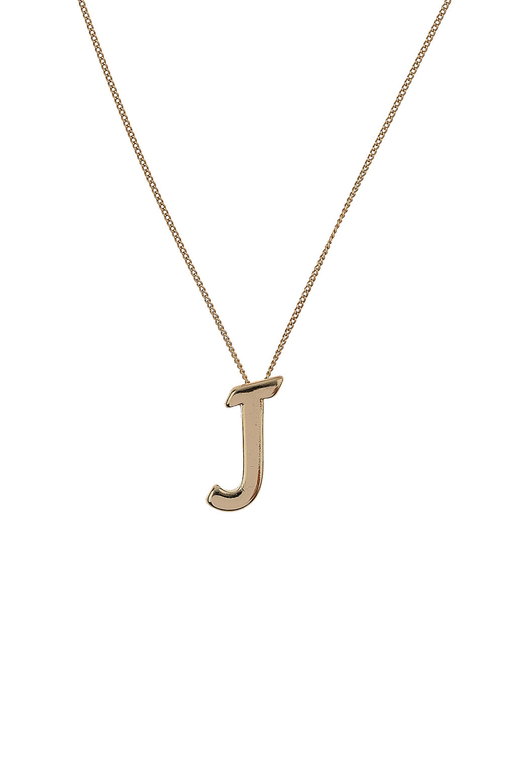 Lyst topshop j initial necklace in metallic gallery womens initial necklaces aloadofball Image collections