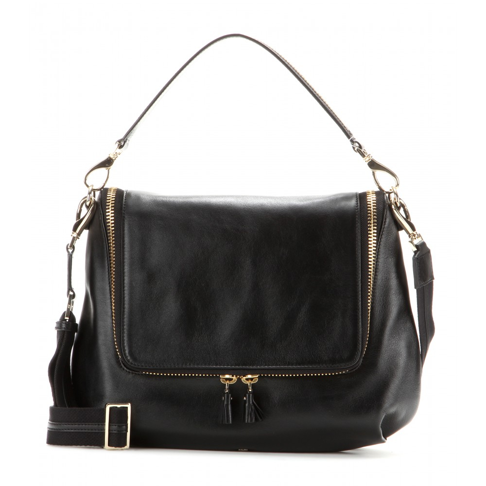 Lyst Anya Hindmarch Maxi Zip Leather Shoulder Bag Black